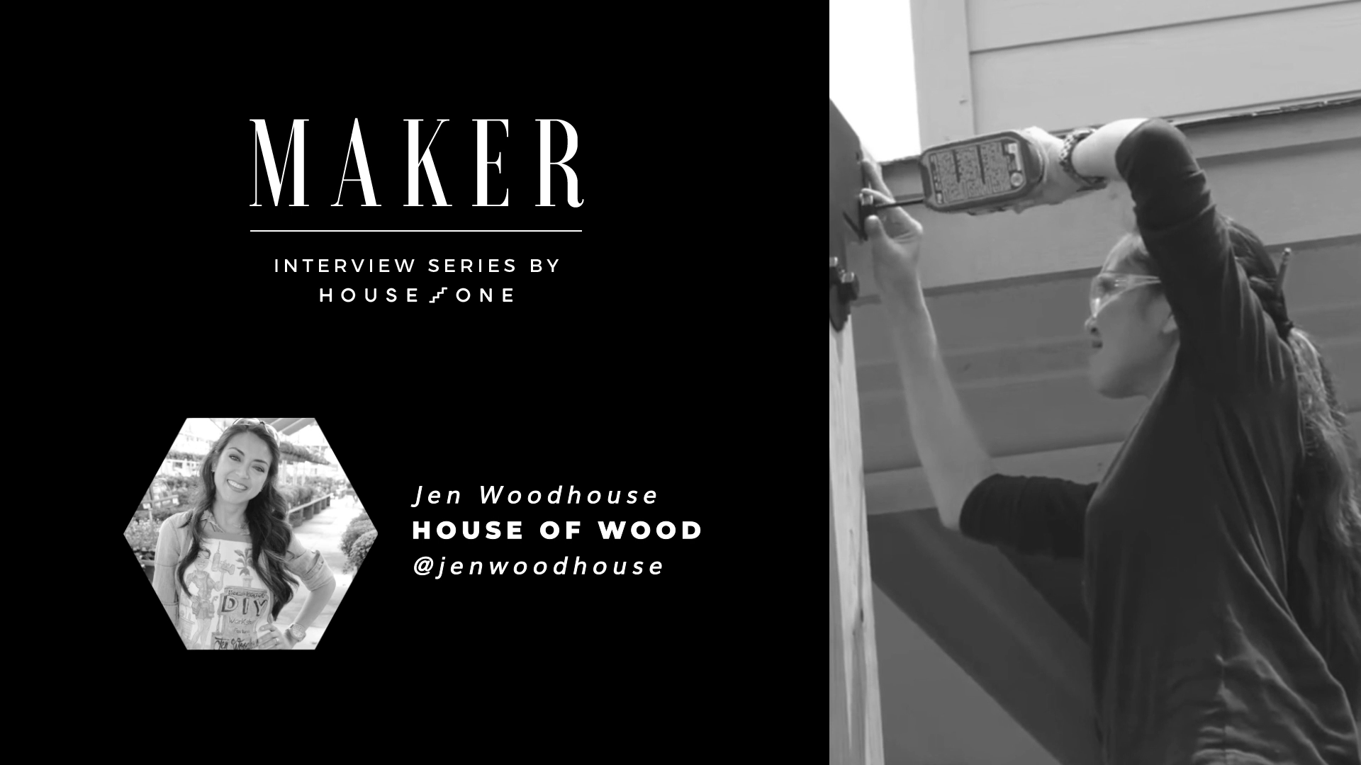 House One host Jenn Largesse interviews Jen of House of Wood in this installment of House One Maker Interview Series.