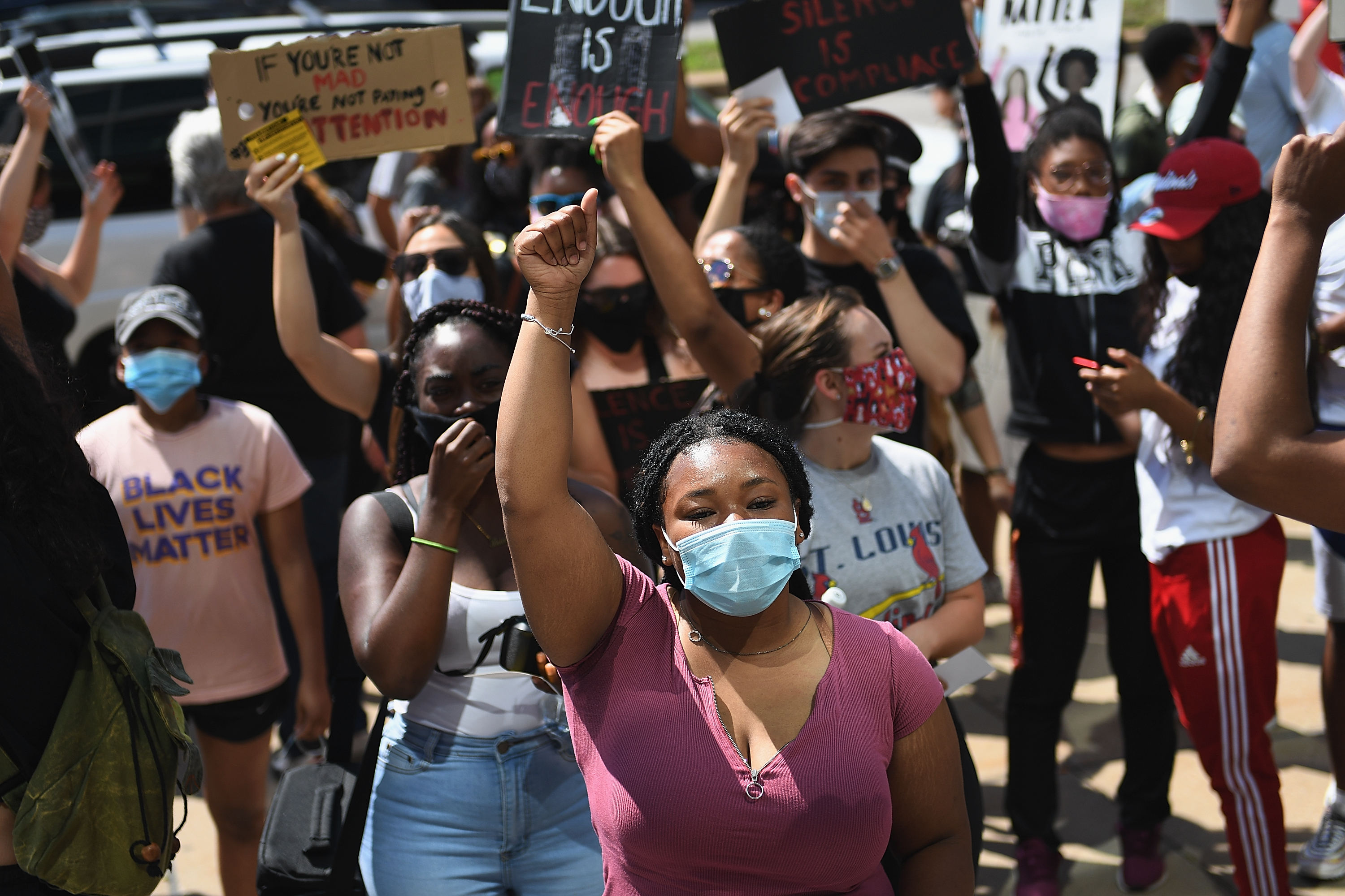 Protest Held Outside St. Louis Justice Center As Protests And Unrest Continue Across Nation