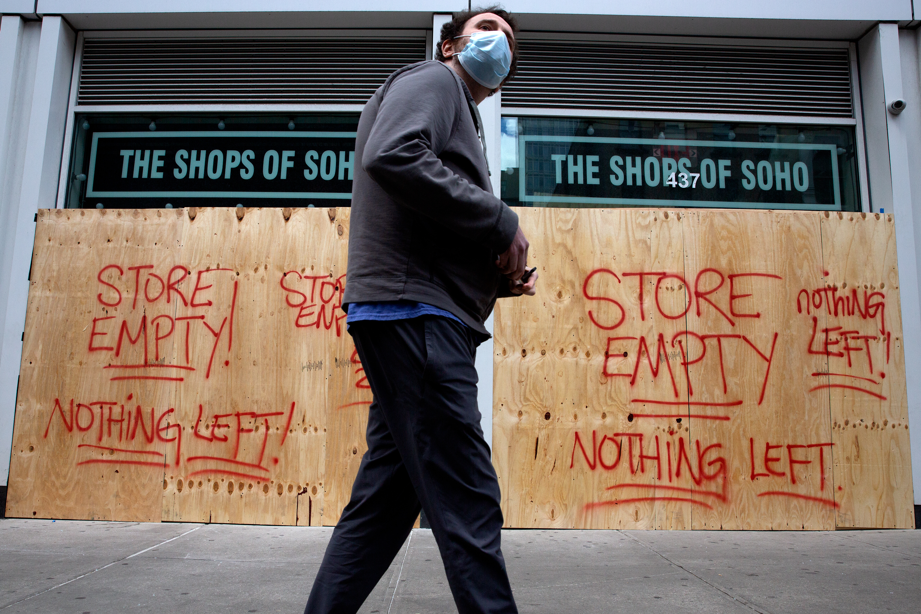 A worker at SoHo's Snkrflea said people looted the store for shoes during protests on Saturday.