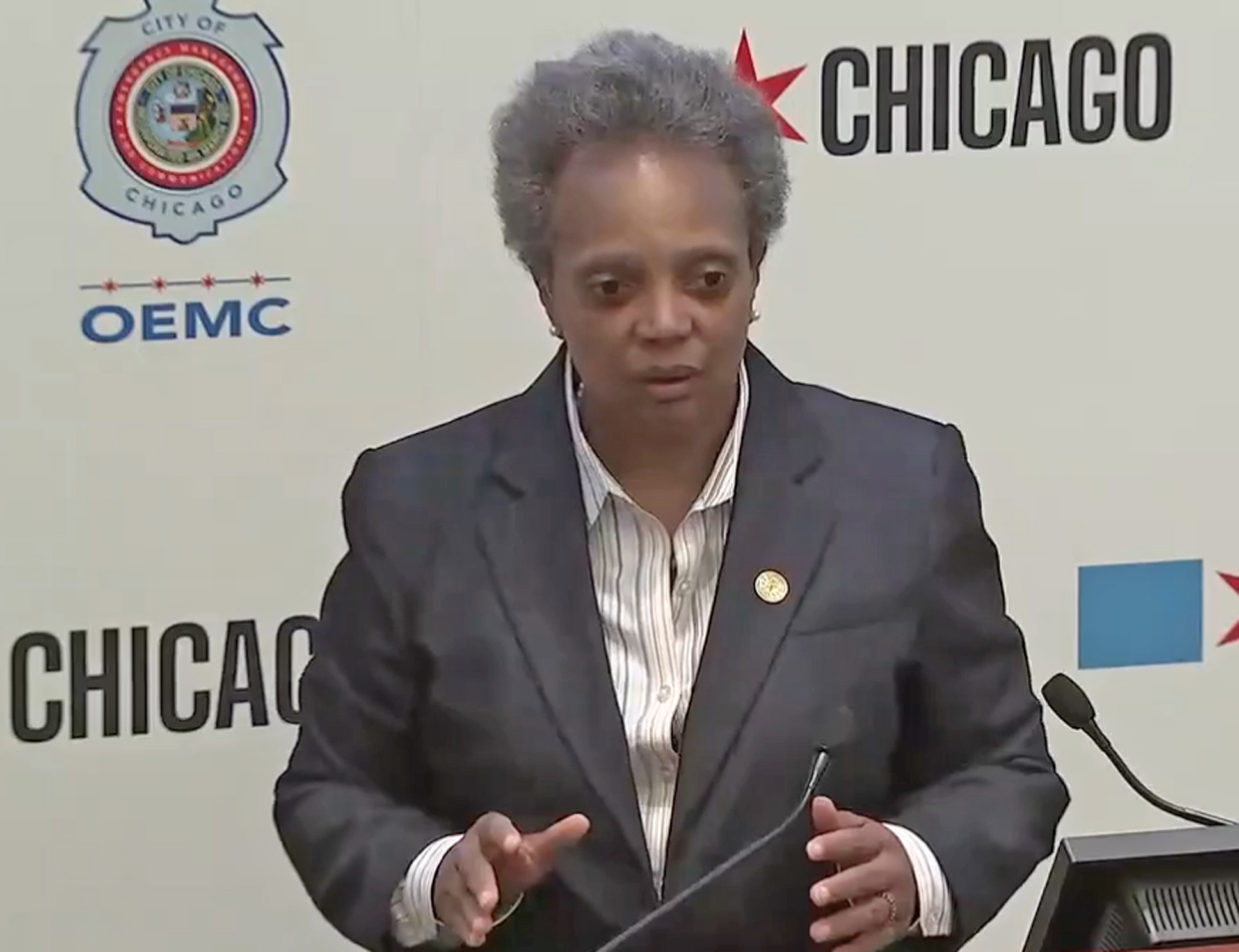 "Mayor Lori Lightfoot was dismissive of Trump's threat that he would send troops to U.S. cities. ""This is a man who likes to bluster,"" she said Tuesday."