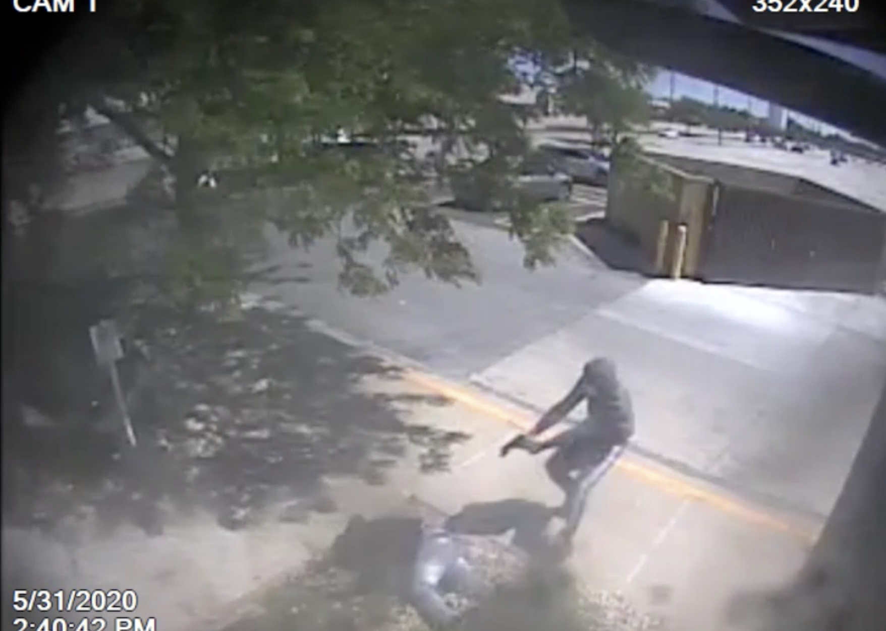 Still of a video released June 2, 2020, of a fatal shooting days earlier at North Riverside Park Mall.
