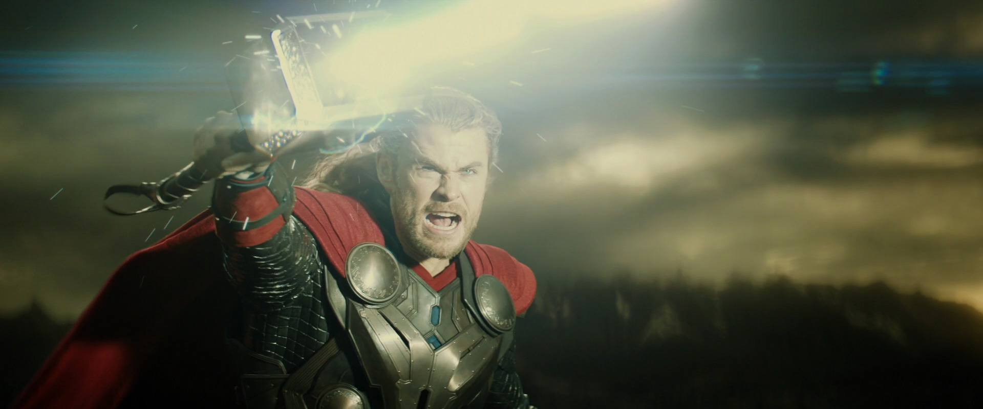 thor shoots frickin lightning out of his hammer in thor 2 the dark world