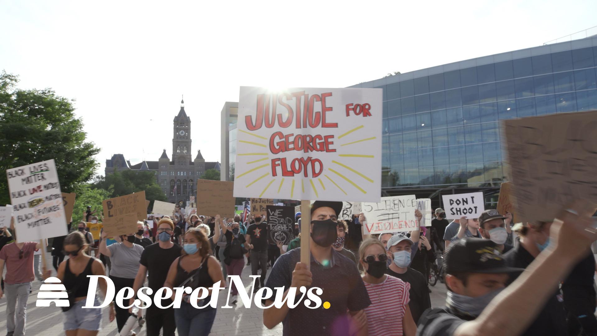 Protesters in Salt Lake City honor George Floyd