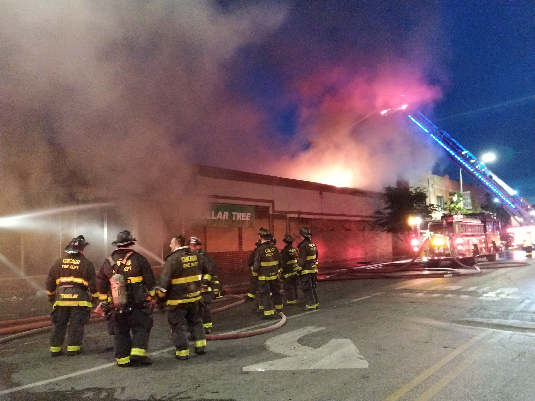 A Dollar Tree was on fire June 2, 2020, in Humboldt Park.