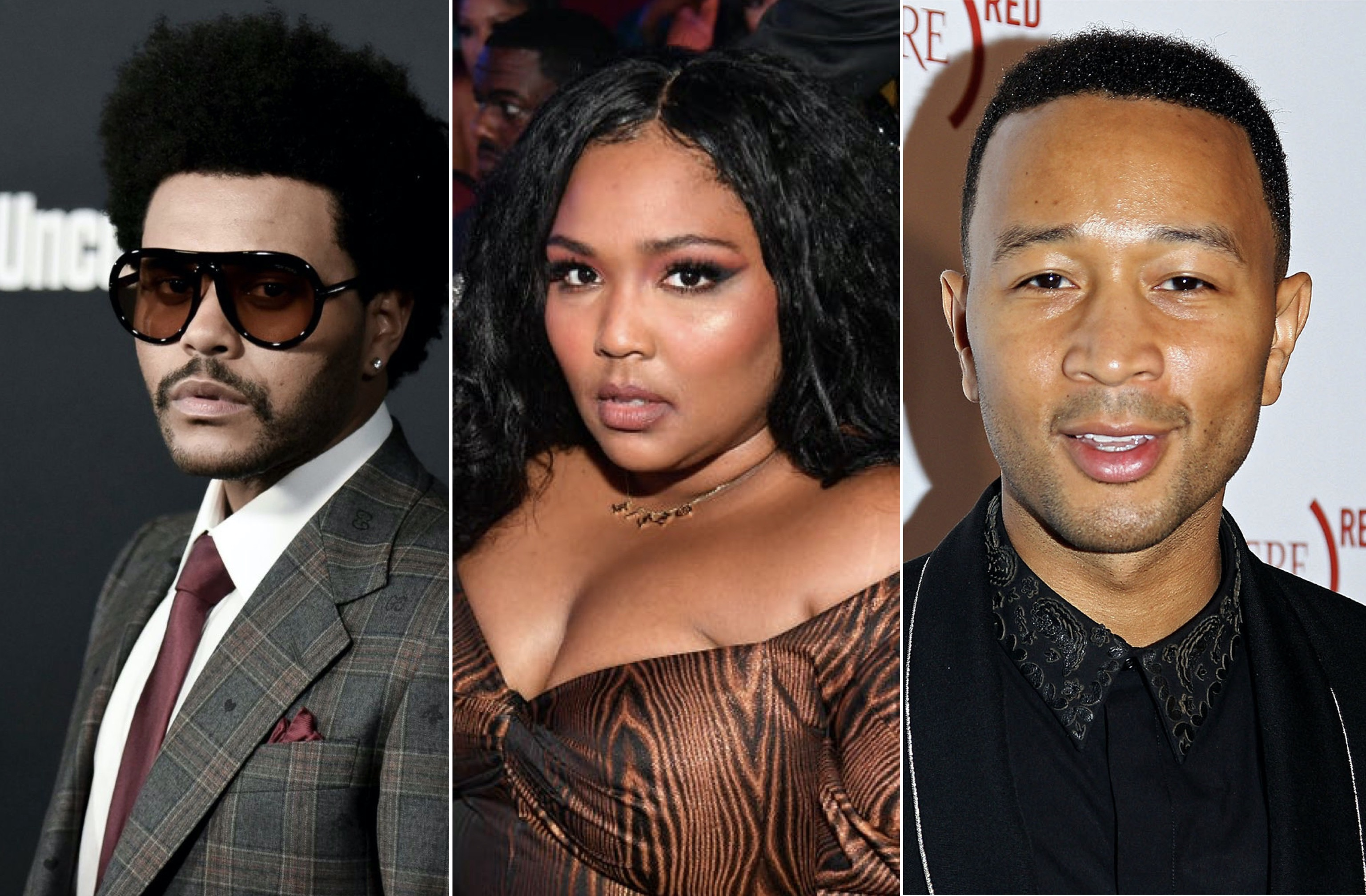 The Weeknd, Lizzo, and John Legend