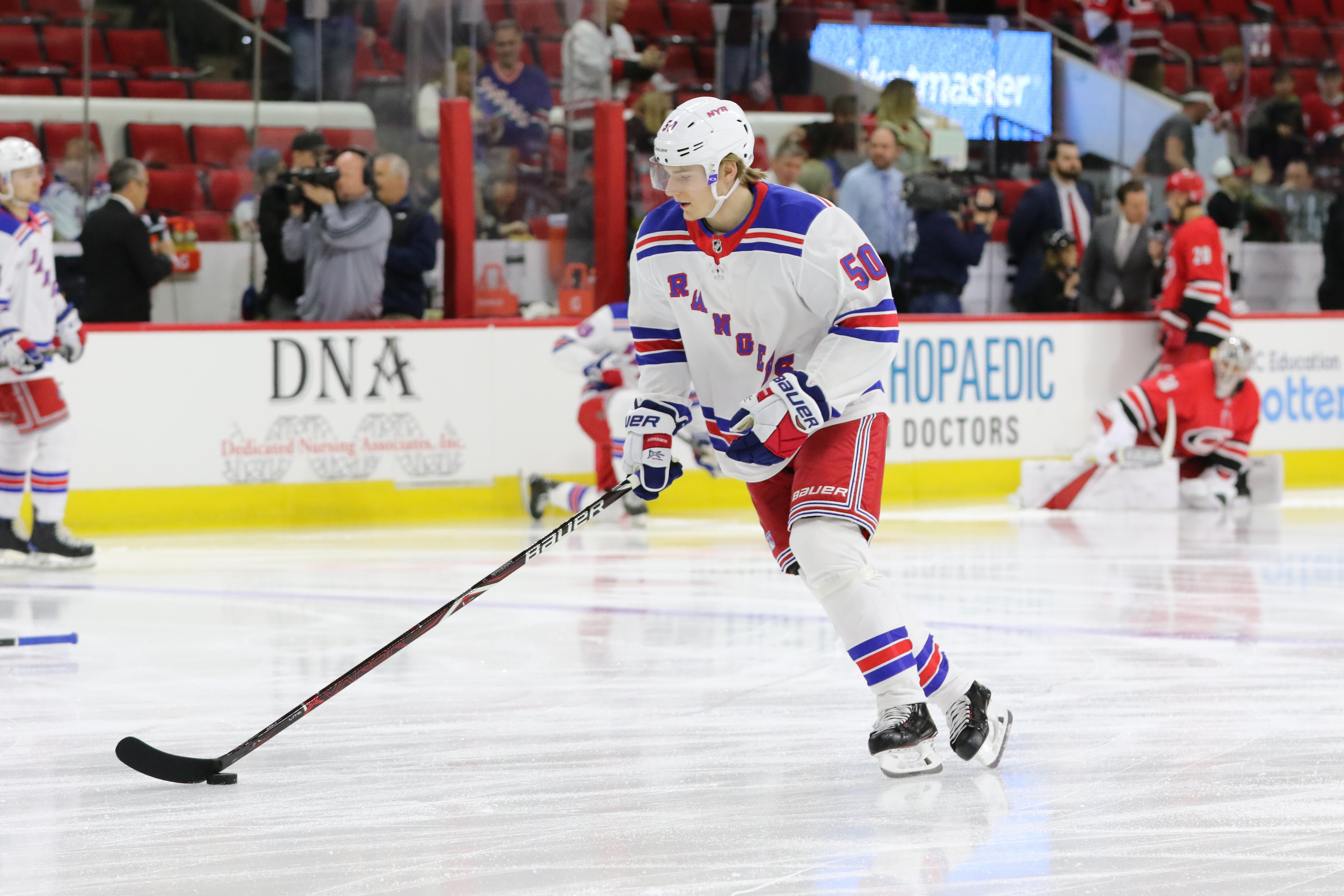 NHL: MAR 31 Rangers at Hurricanes