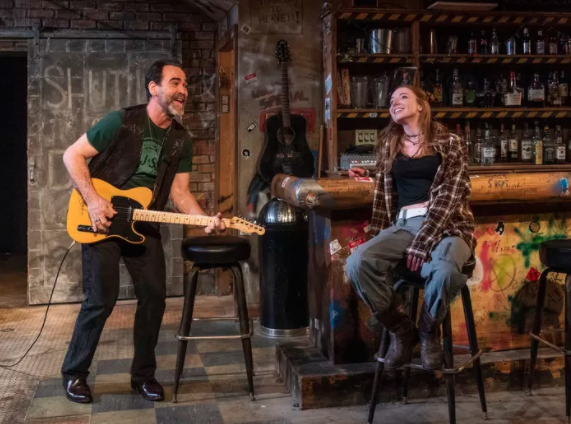 """Jeff Mills and Lindsay Stock in Raven Theatre's Chicago production of """"The Undeniable Sound of Right Now."""""""