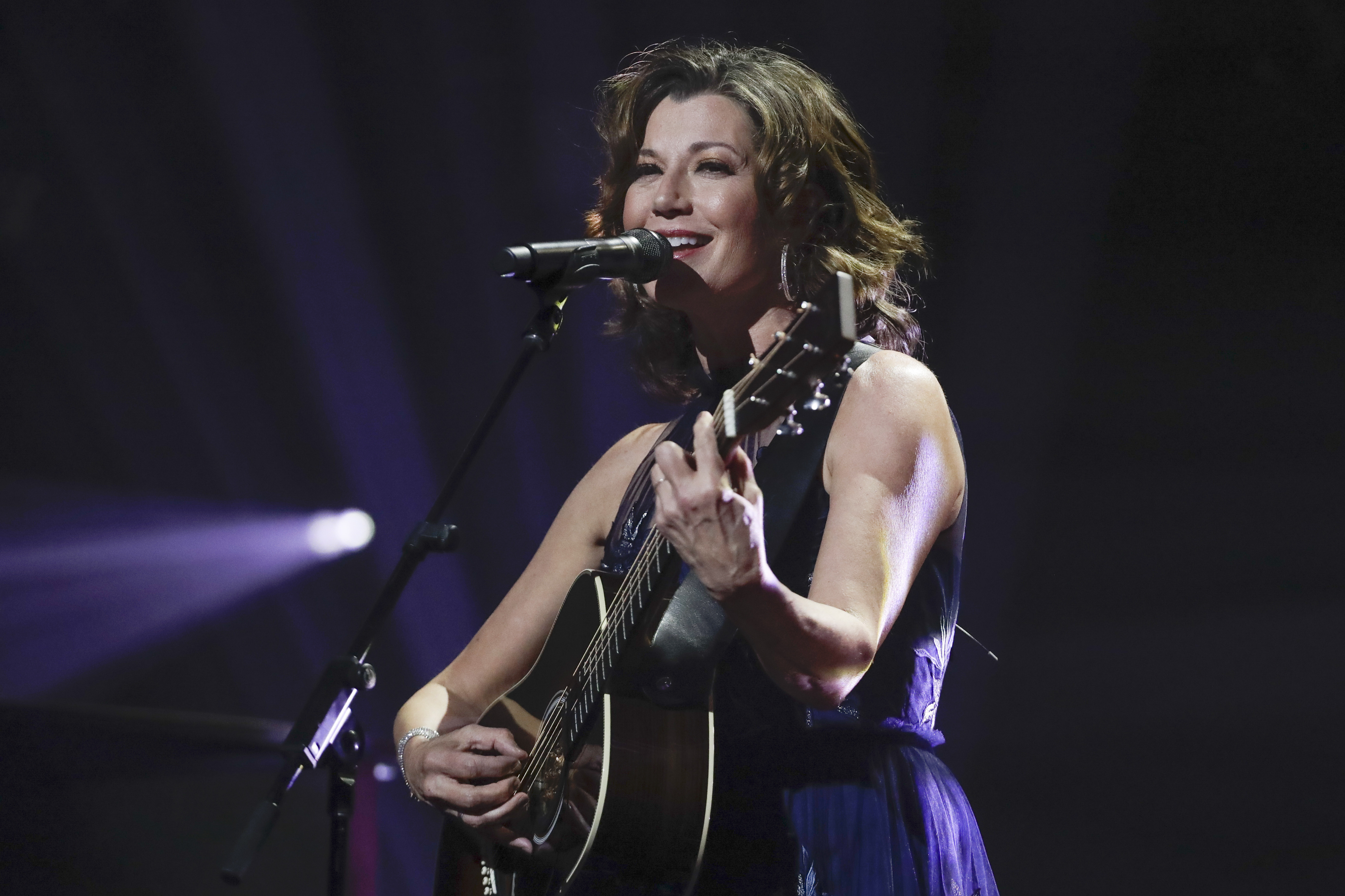 Amy Grant performs during the Dove Awards in Nashville, Tennessee, in 2019.