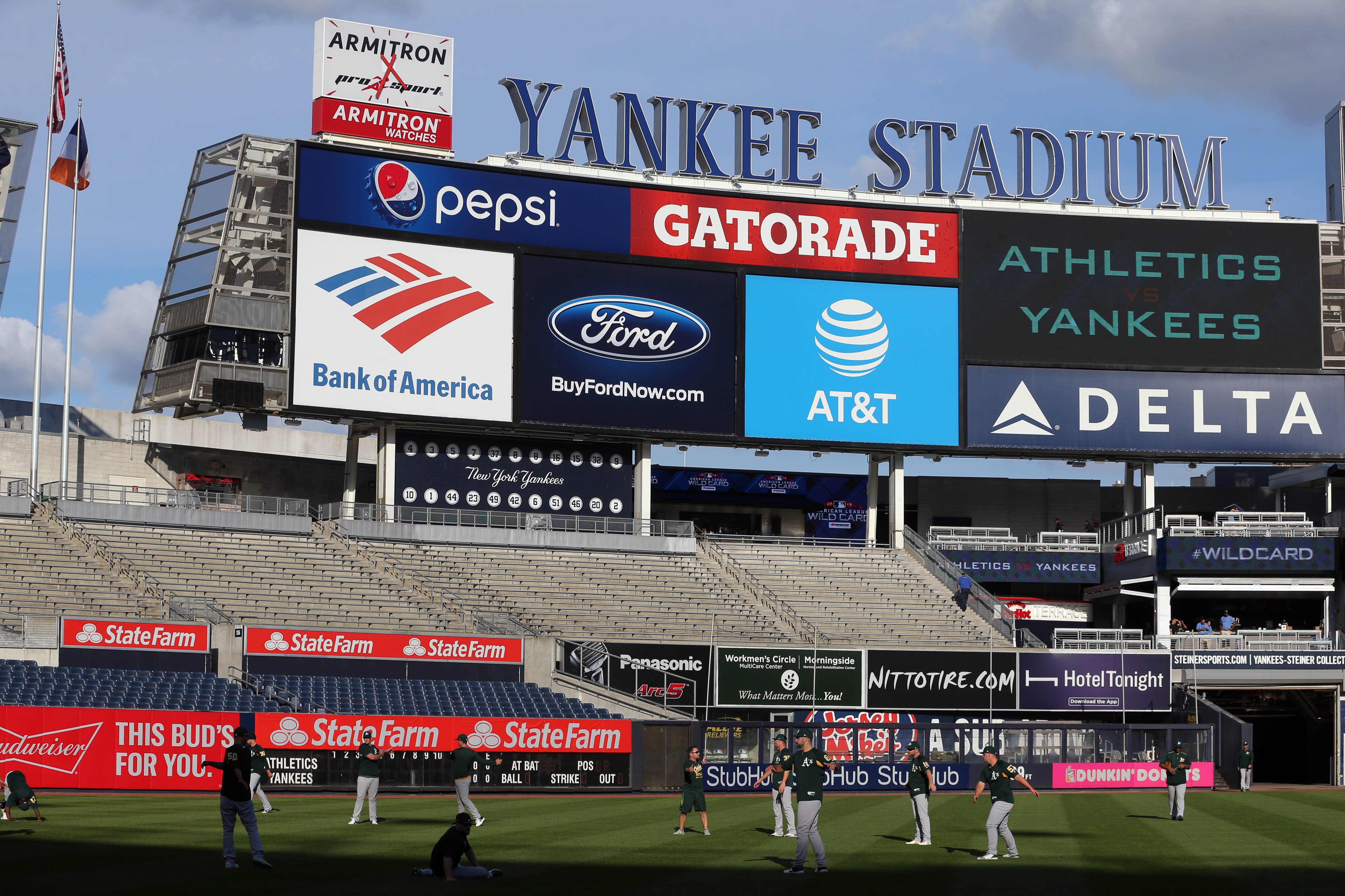 MLB: AL Wild Card-Oakland Athletics at New York Yankees