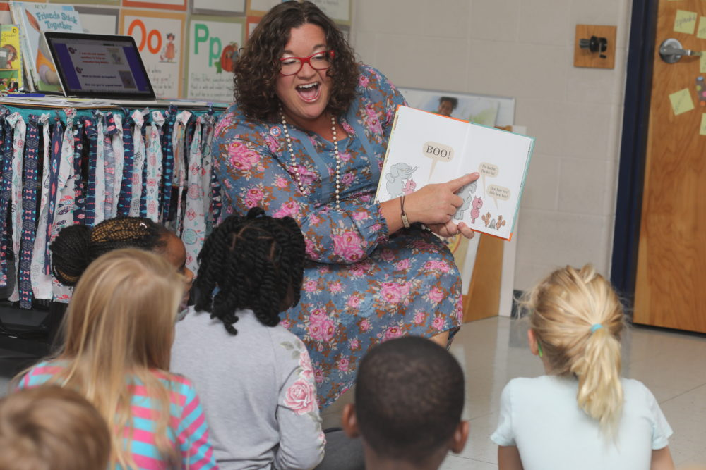 Melissa Miller reads aloud to her first-grade class at Franklin Elementary School in Franklin, Tennessee. Now in her 20th year of teaching, Miller is Tennessee's 2018-19 Teacher of the Year.
