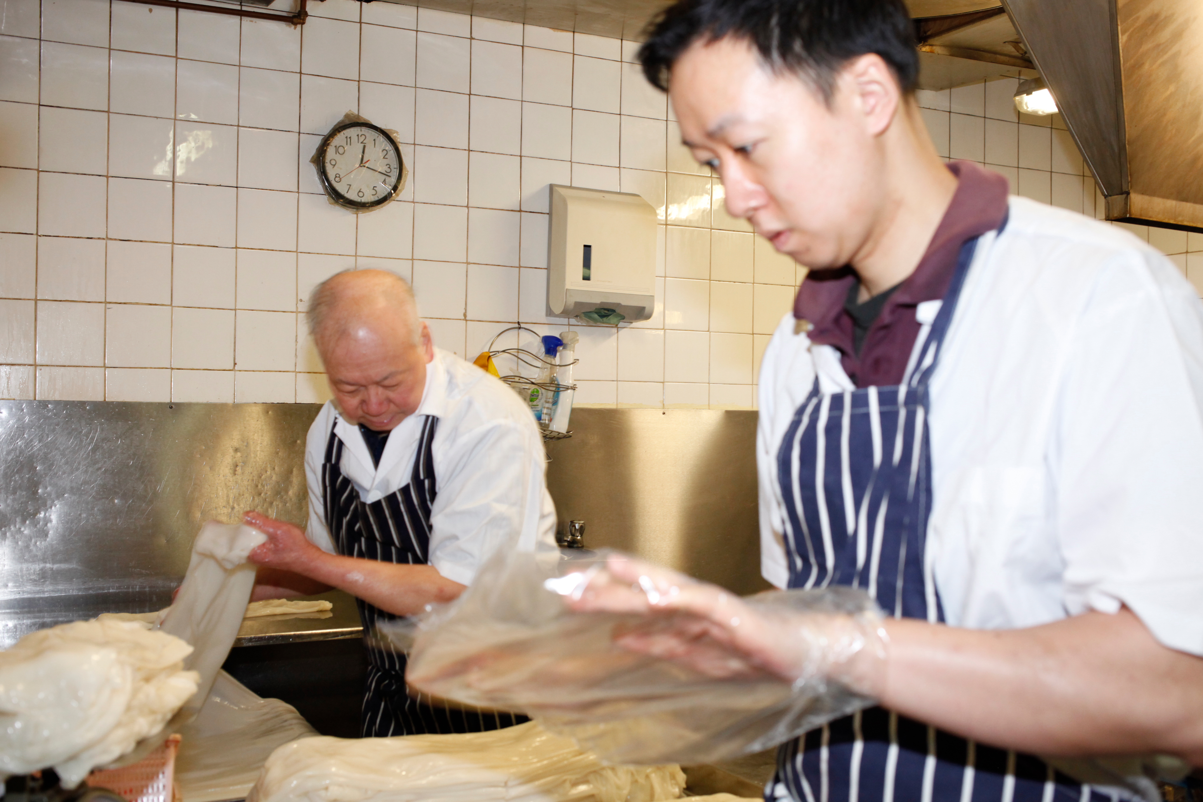 Kit-foon and Wai-keung Law, pictured at Lo's Noodle Factory in Chinatown earlier this year