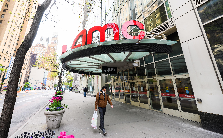 an AMC cinema in New York during the coronavirus pandemic