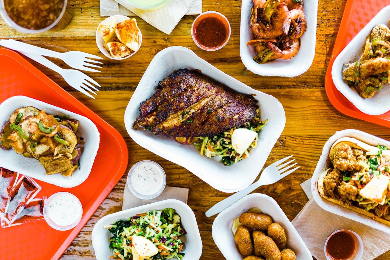 seafood on a table