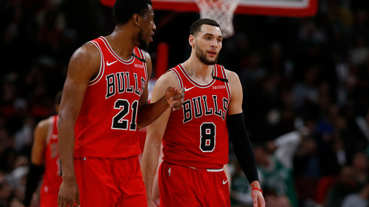 """""""I think the main concern — and I think it still is a concern with the players that are going down there — is it safe?'' the Bulls' Zach LaVine (right) said of the NBA's plan to restart the season with 22 teams in Florida."""
