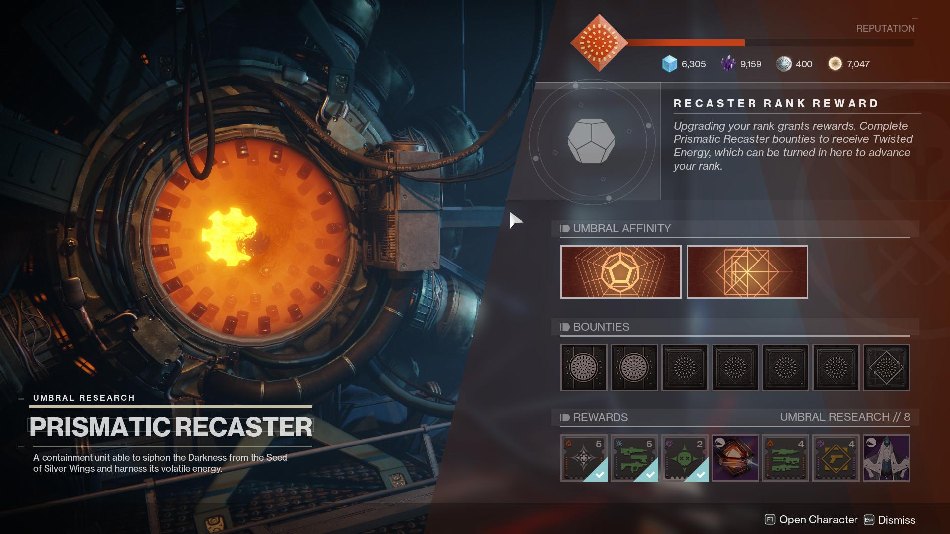 Destiny 2 Prismatic Recaster