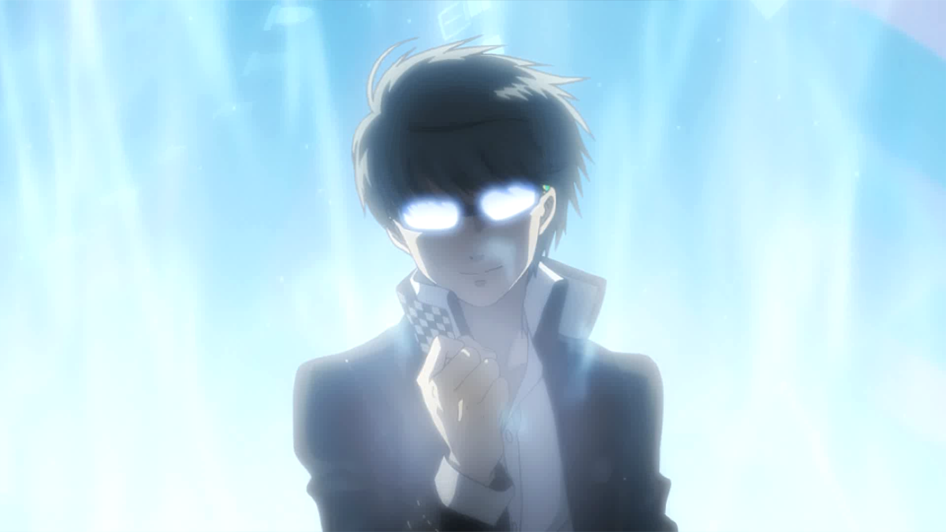 Persona 4 Golden's main character is bathed in light