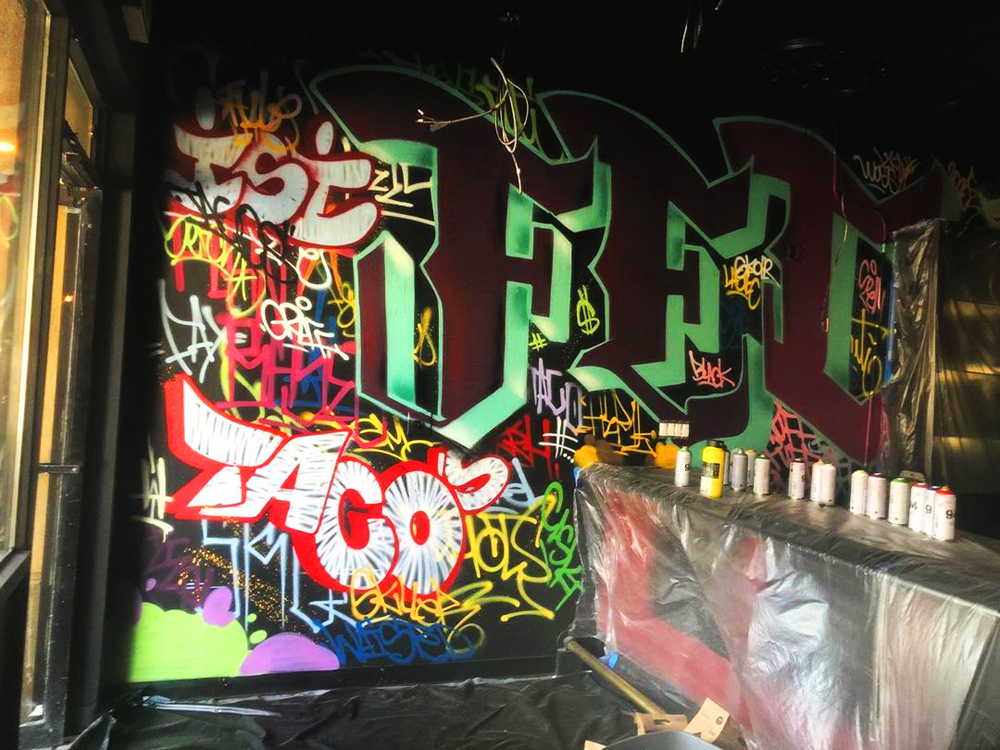 Street art and murals will decorated the vegan-focused Taco Dive Bar on the eastside, opening this summer.