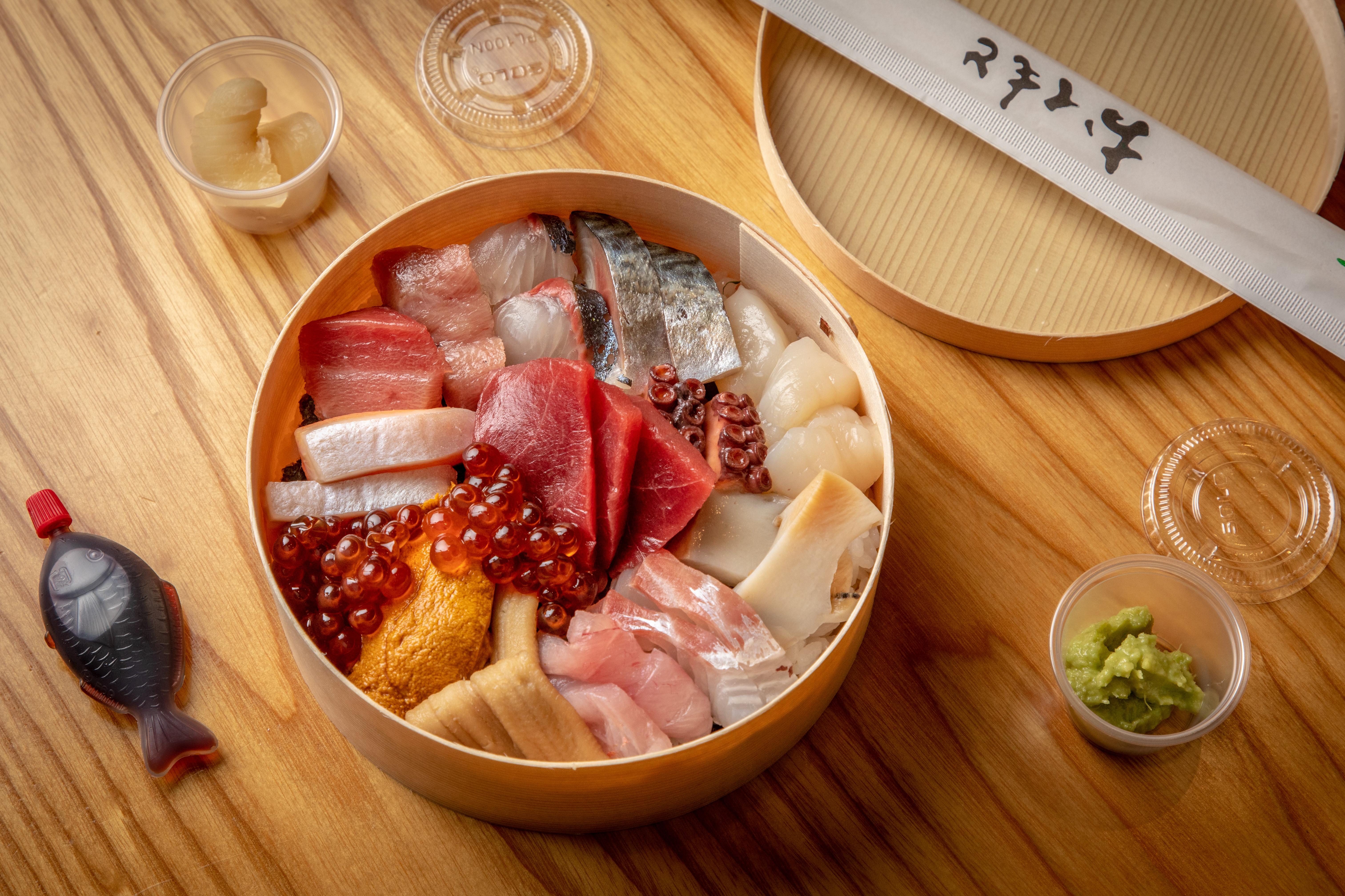 Chirashi bowl from Hiroshisa