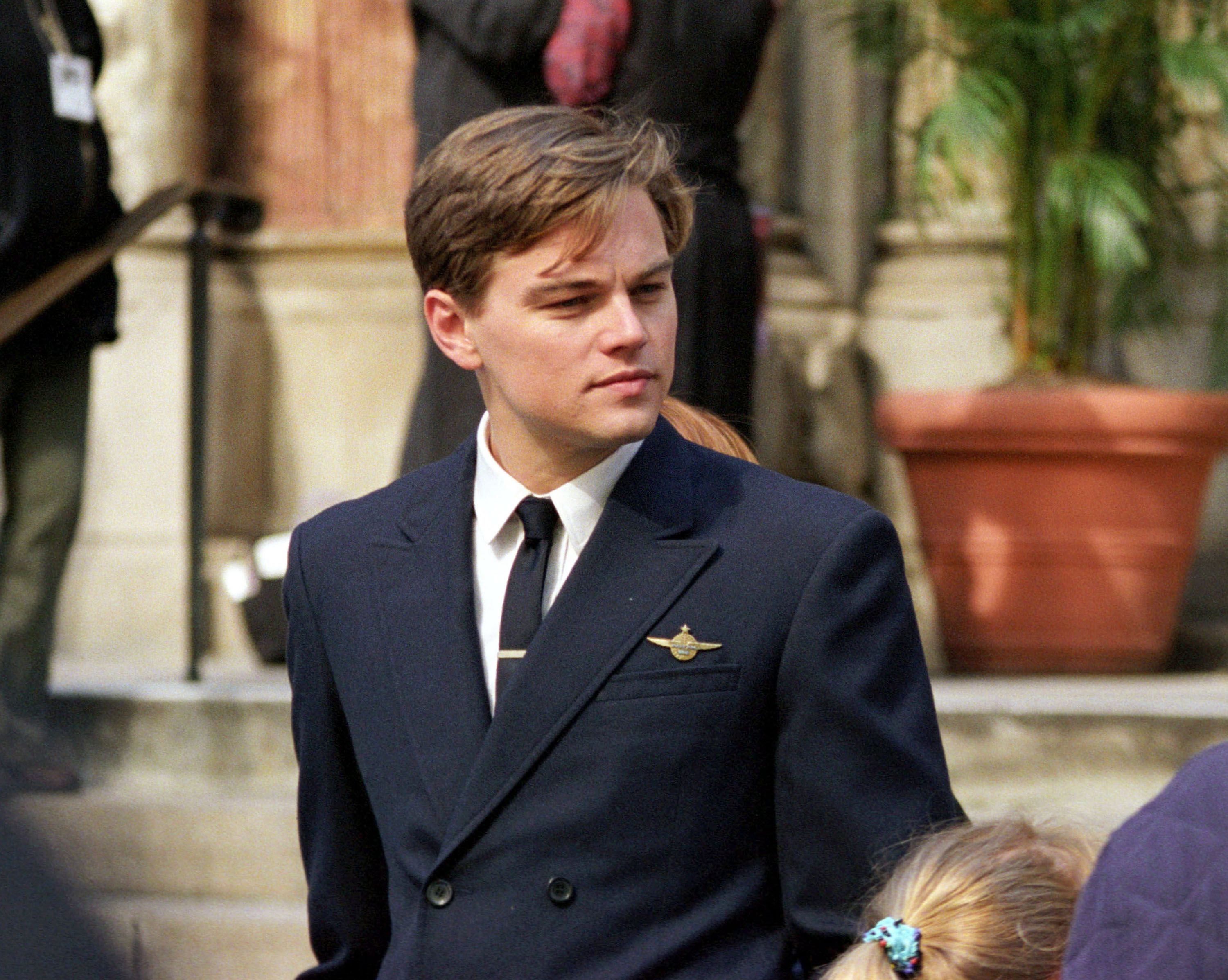 """DiCaprio Films """"Catch Me If You Can"""" in New York"""