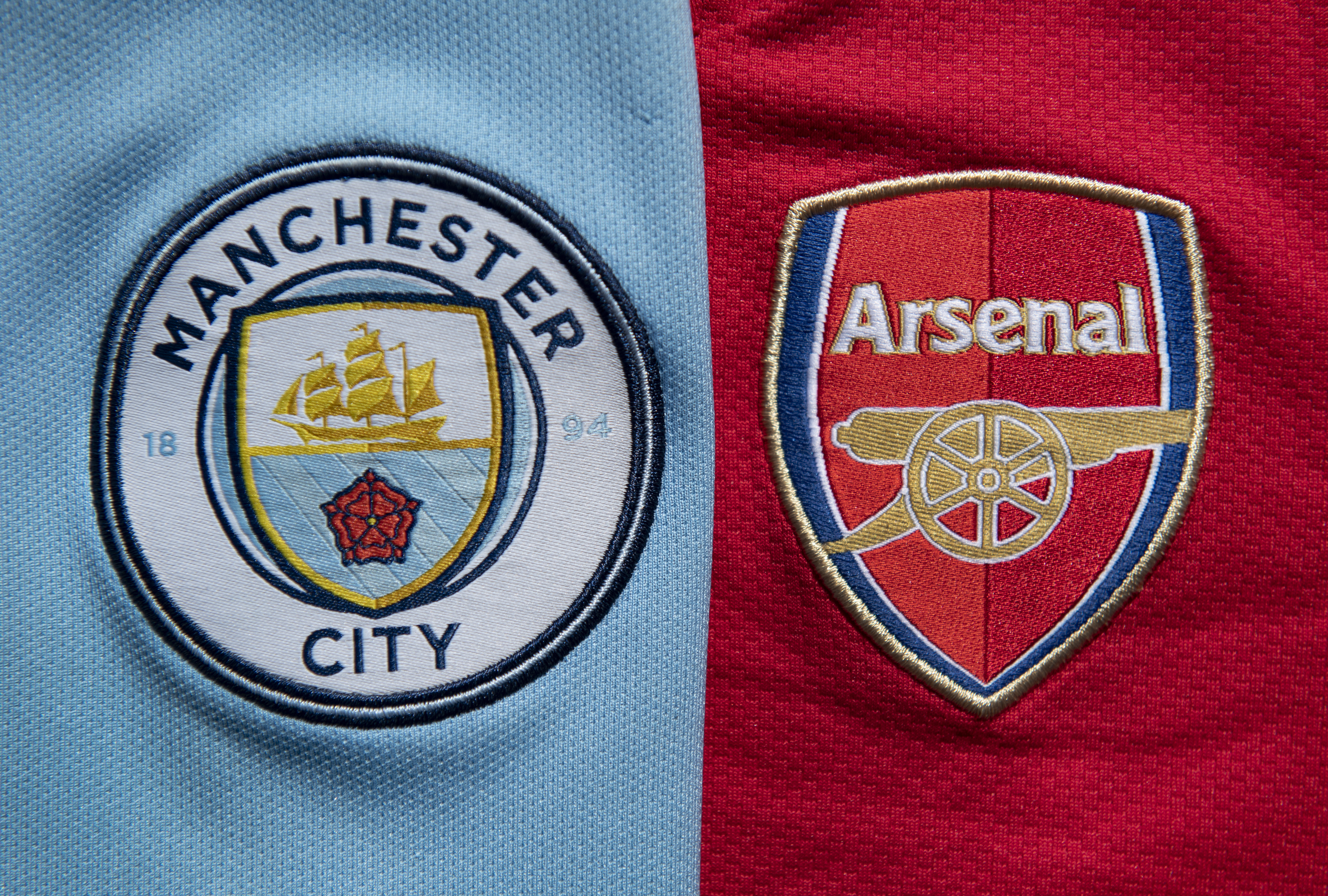 Manchester City and Arsenal Club Crests