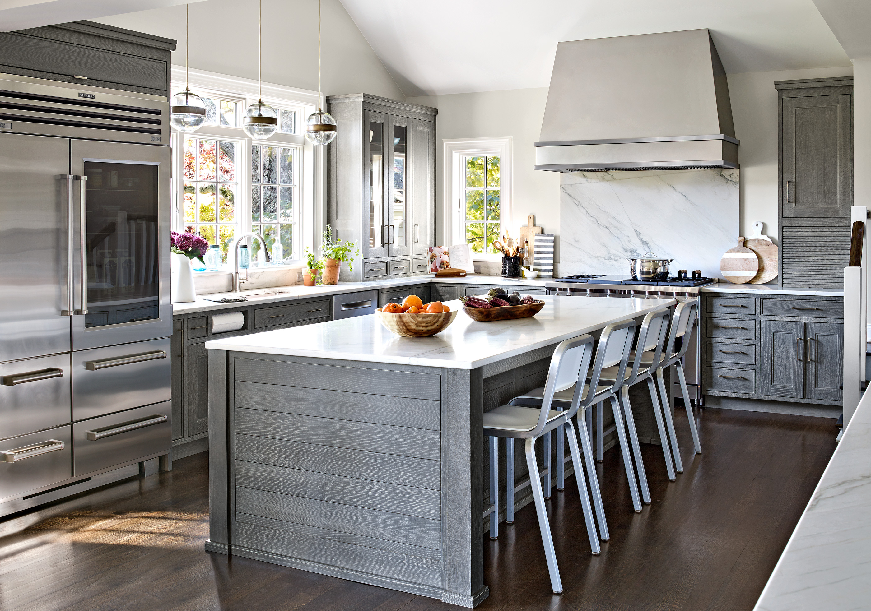 kitchen remodel in Mamaroneck, NY, after overview
