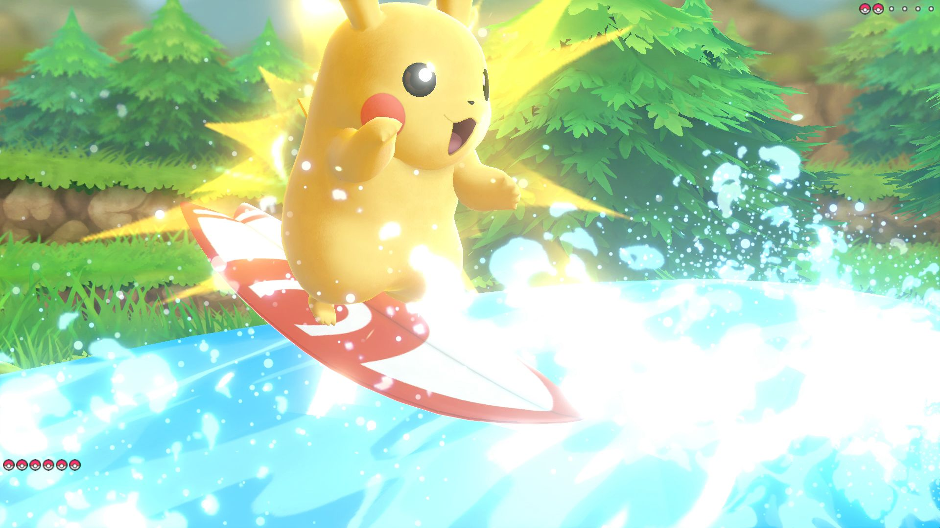 Surfing in Pokémon: Let's Go, Pikachu! and Let's Go, Eevee!