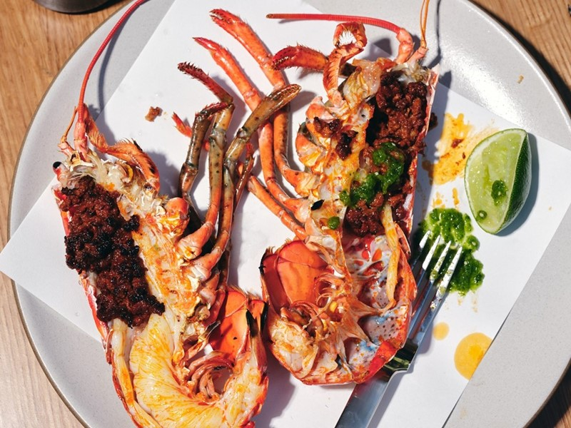 Lobster with chorizo at Elio