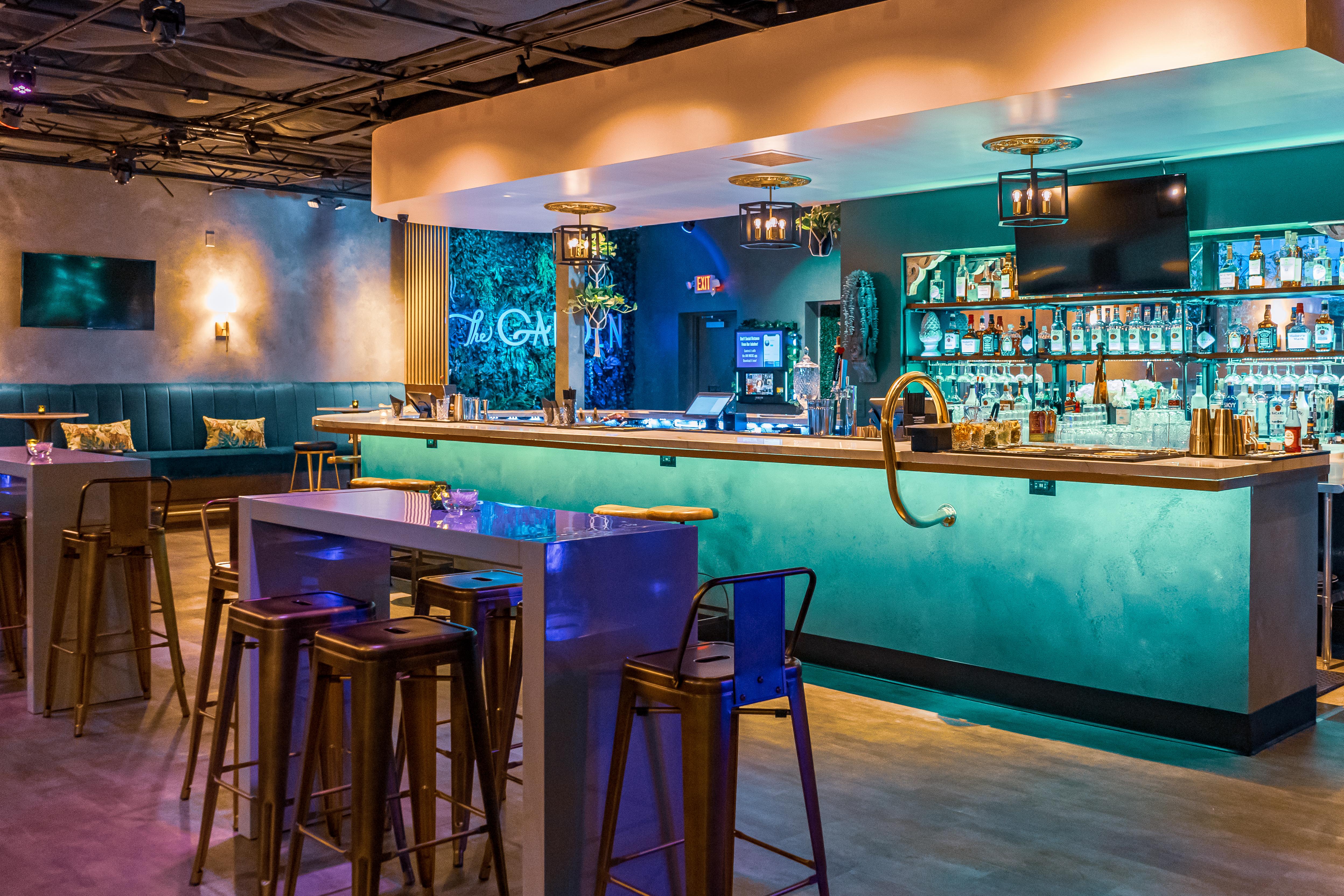 The bar at The Garden