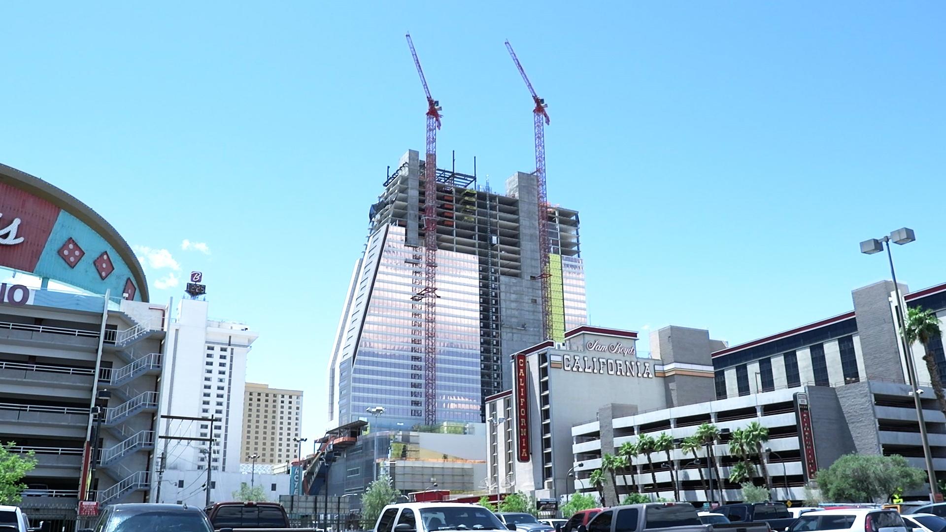 A resort being built in Las Vegas