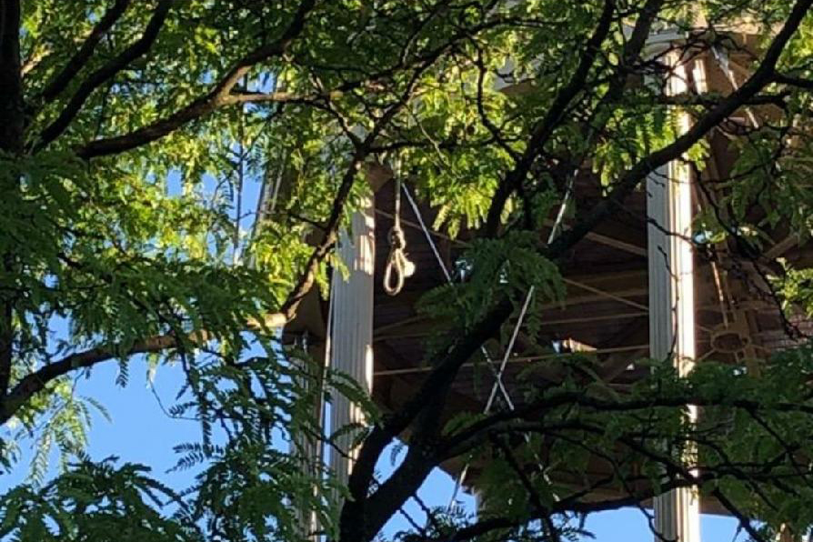 A noose was found hanging from a tree near the fire tower in Harlem's Marcus Garvey Park over the weekend.