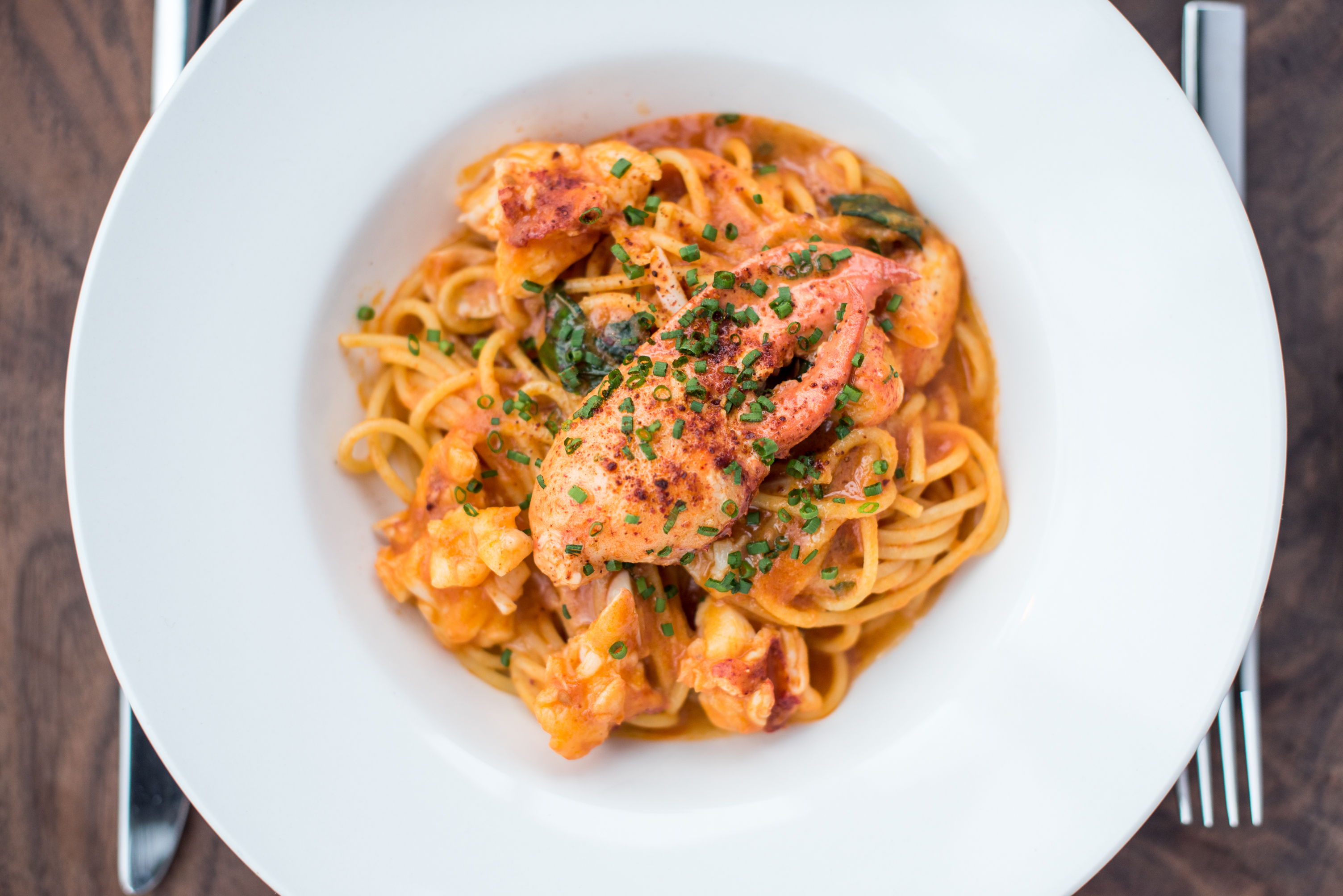 Lobster spaghetti at Martina