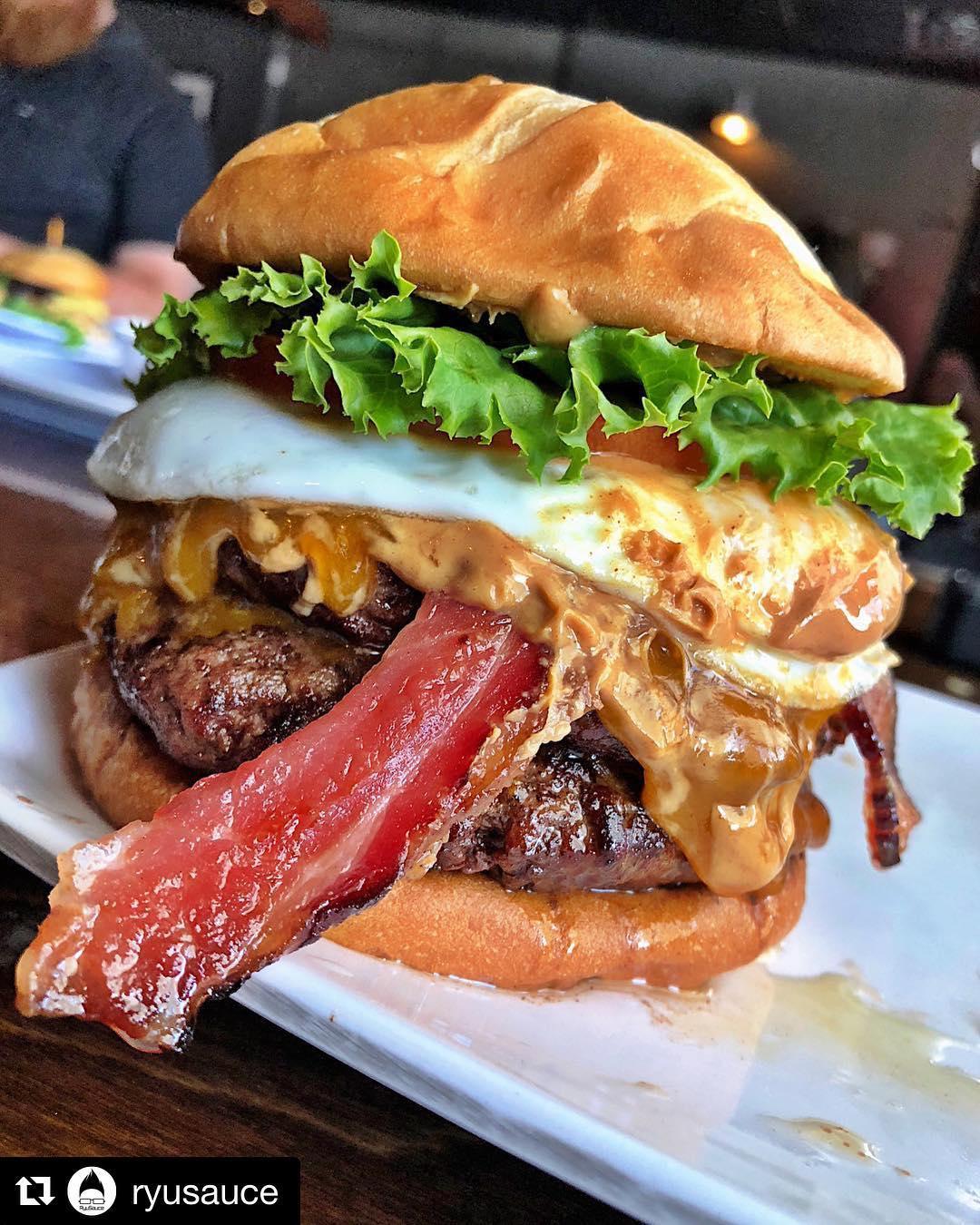 A burger at The Dillinger