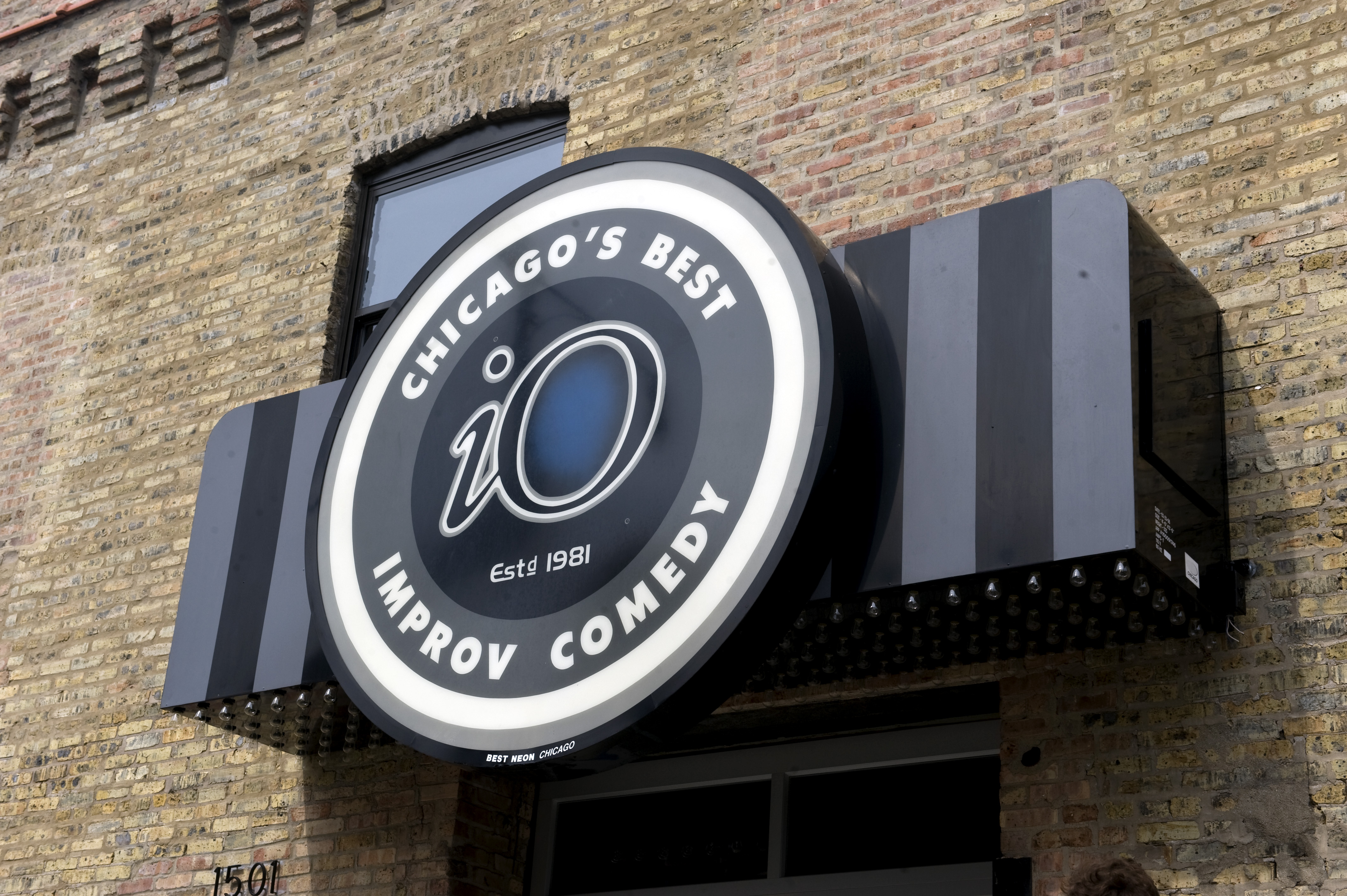 The exterior of the new iO Improv Comedy Theater at 1501 N. Kingsbury, is photographed in 2014.