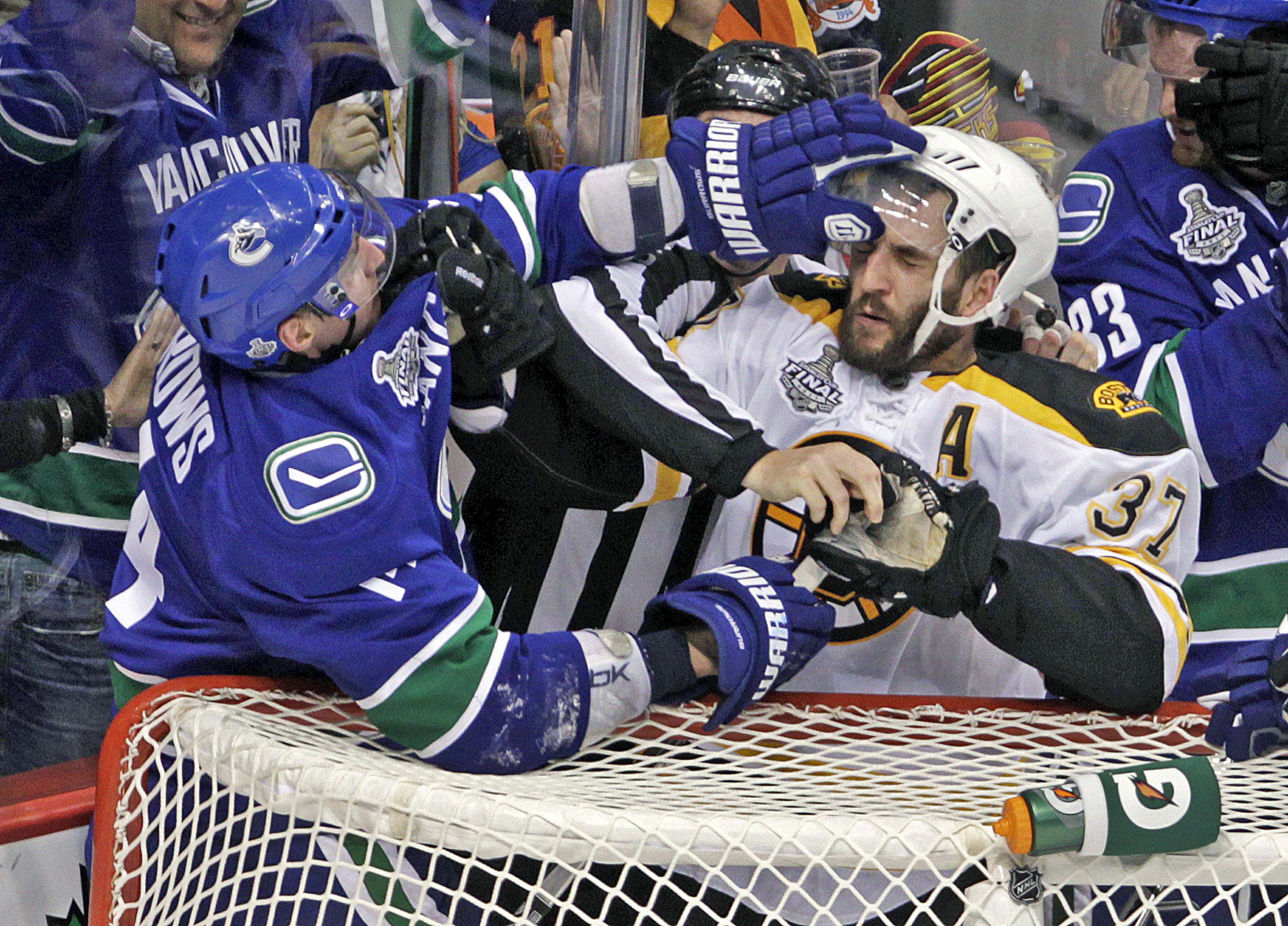 Boston Bruins Vs. Vancouver Canucks At Rogers Arena
