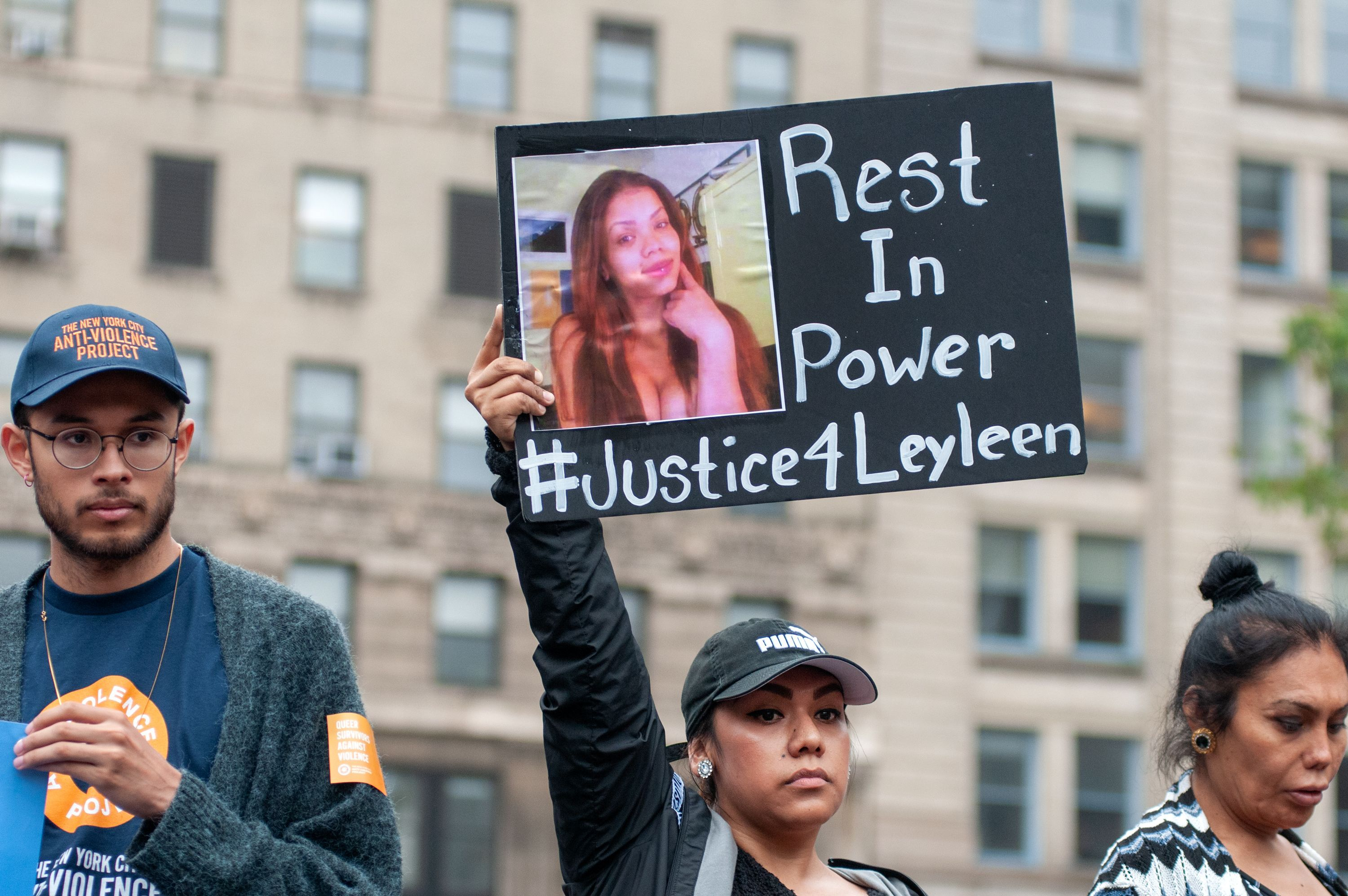 A Foley Square vigil for Layleen Polanco on June 10, 2019.