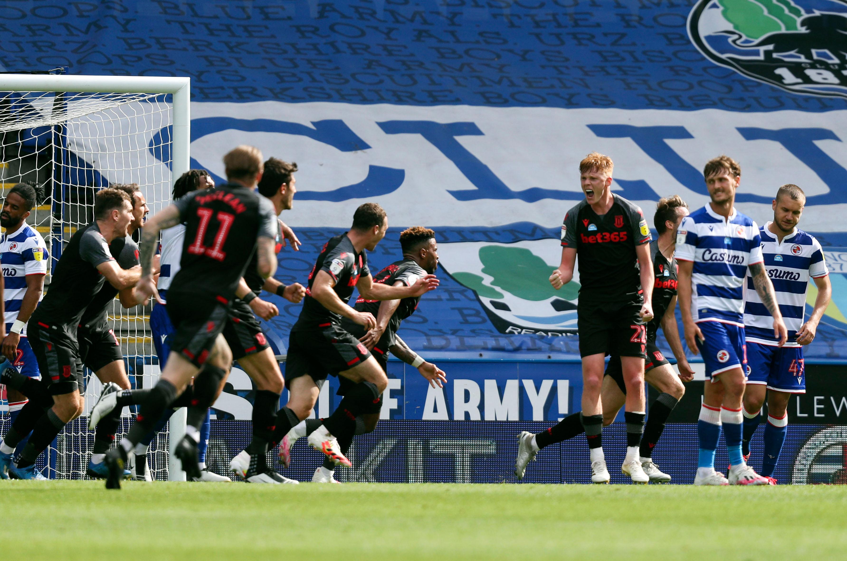 Reading v Stoke City - Sky Bet Championship - Madejski Stadium