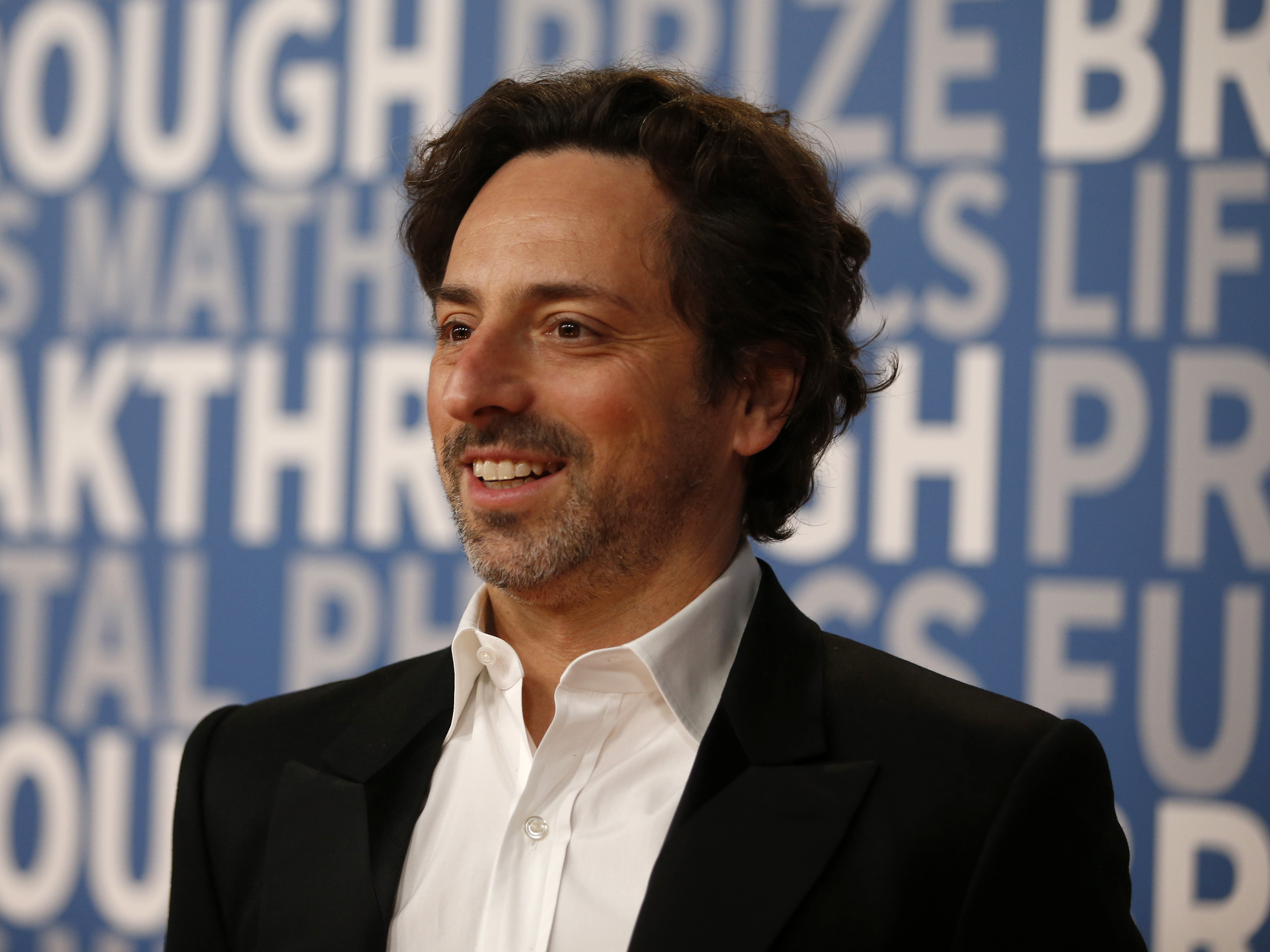 Sergey Brin poses for a picture on the red carpet for the 6th annual 2018 Breakthrough Prizes at Moffett Federal Airfield, Hangar One in Mountain View, Calif.,
