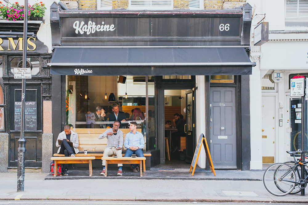 Kaffeine in Fitzrovia, one of London's best coffee shops