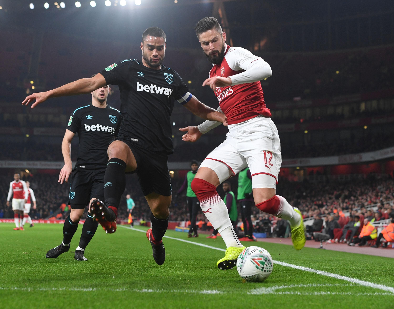 Arsenal v West Ham United - Carabao Cup Quarter Final
