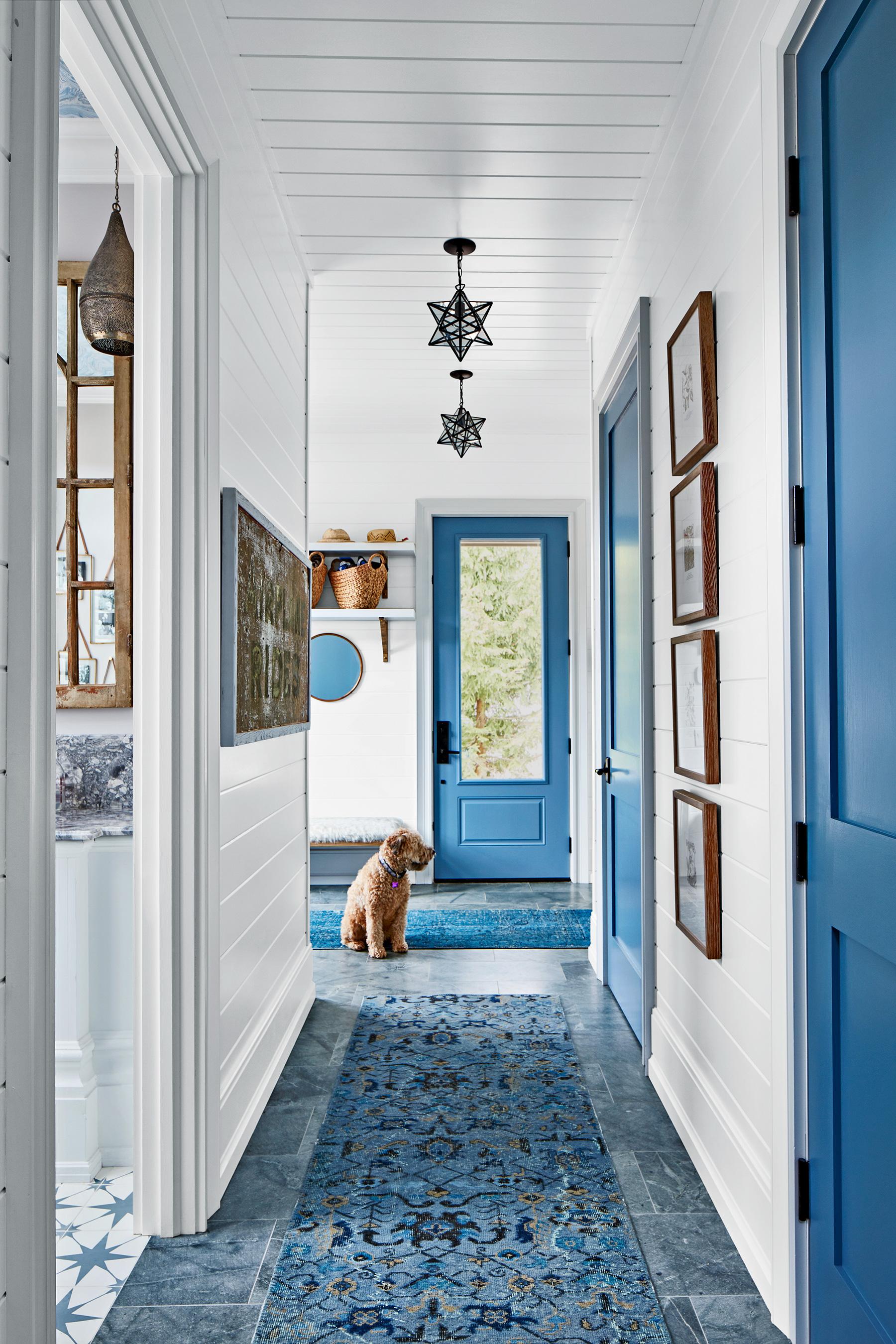 Toronto interior designer Sarah Richardson paints entry door, May/June 2020