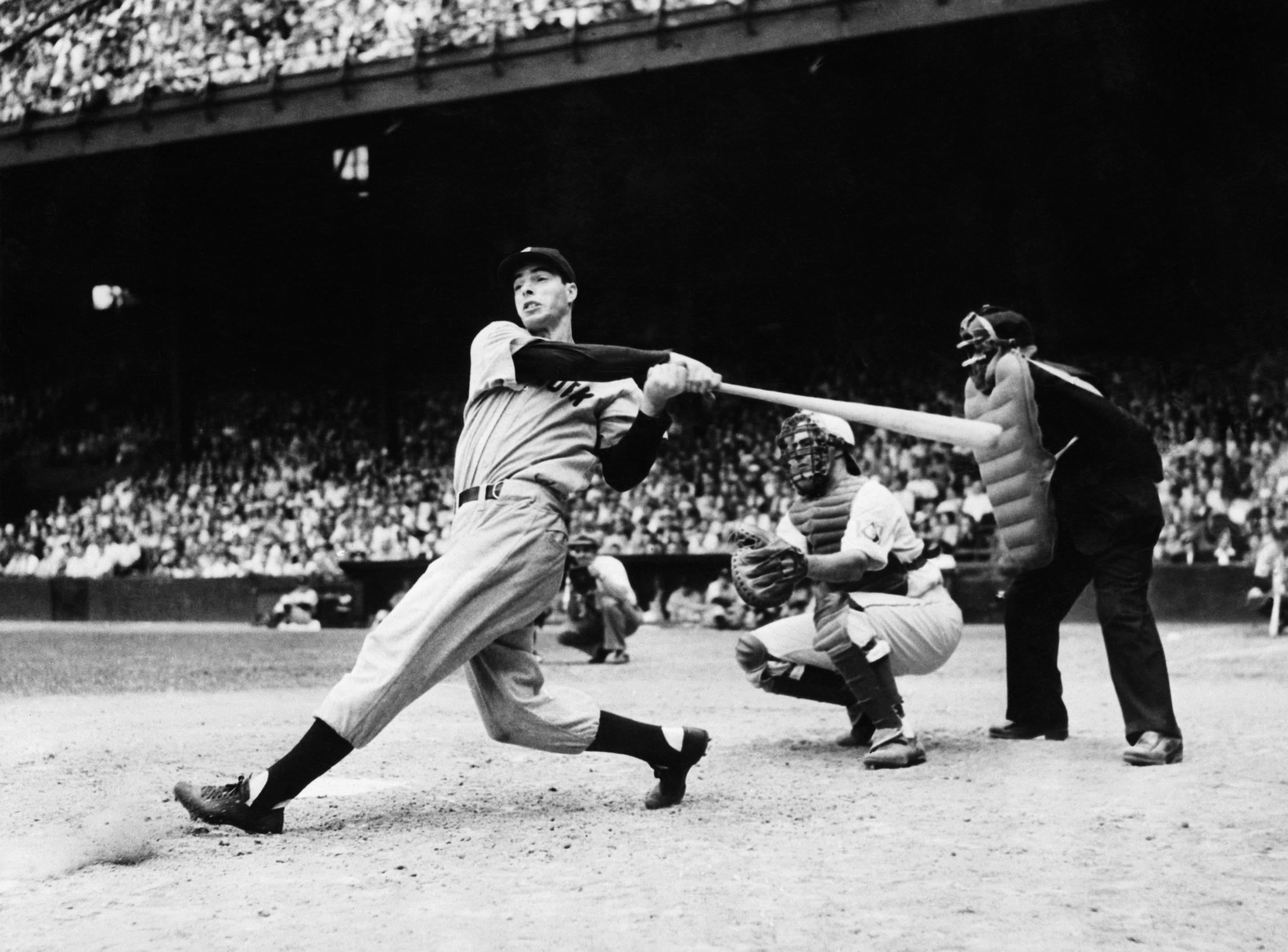 Joe DiMaggio Hitting a Home Run