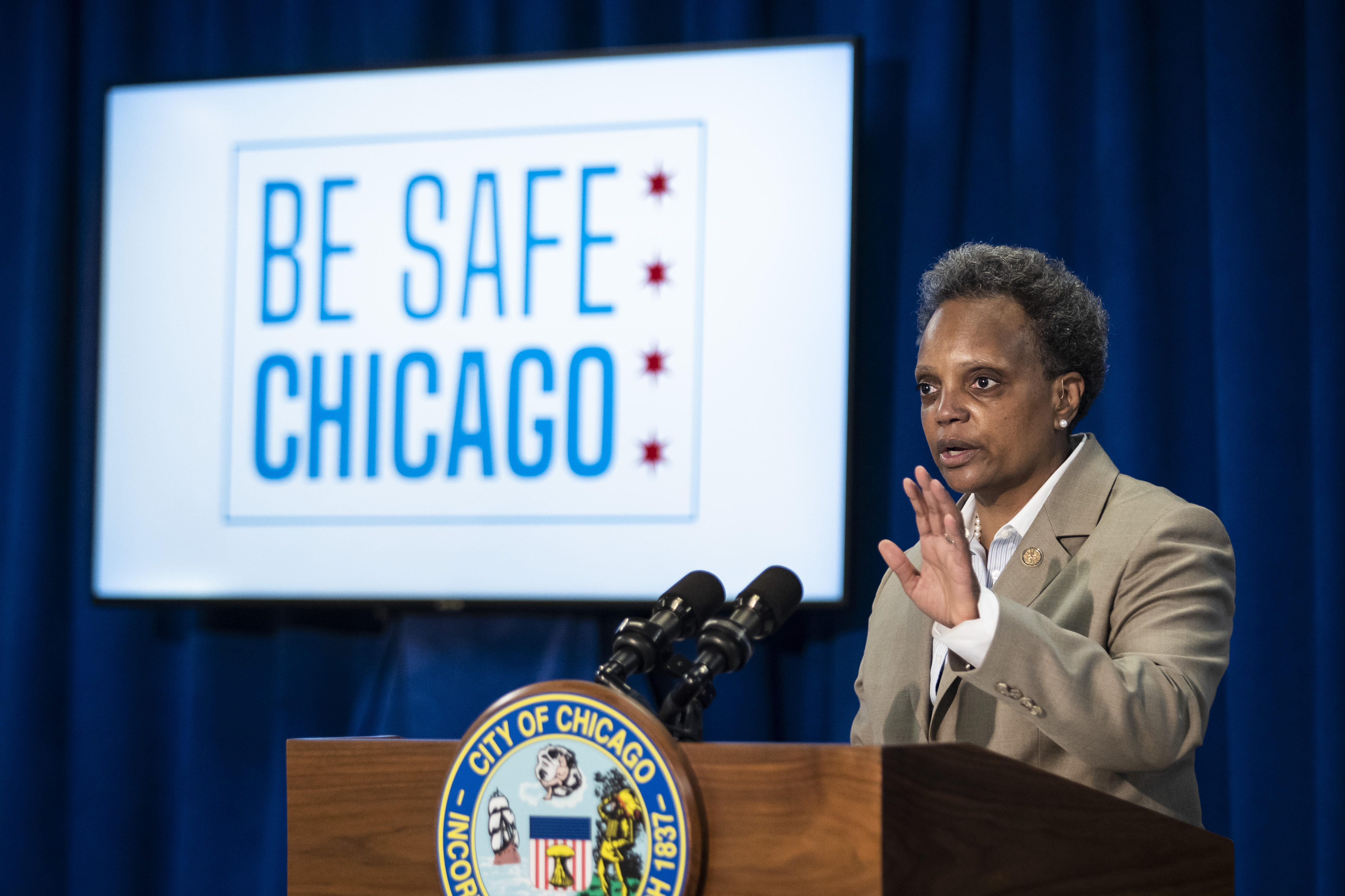 Mayor Lori Lightfoot held a news conference at City Hall on Monday, June 22 to discuss details of the city's plans to continue a cautious reopening amid the coronavirus pandemic.