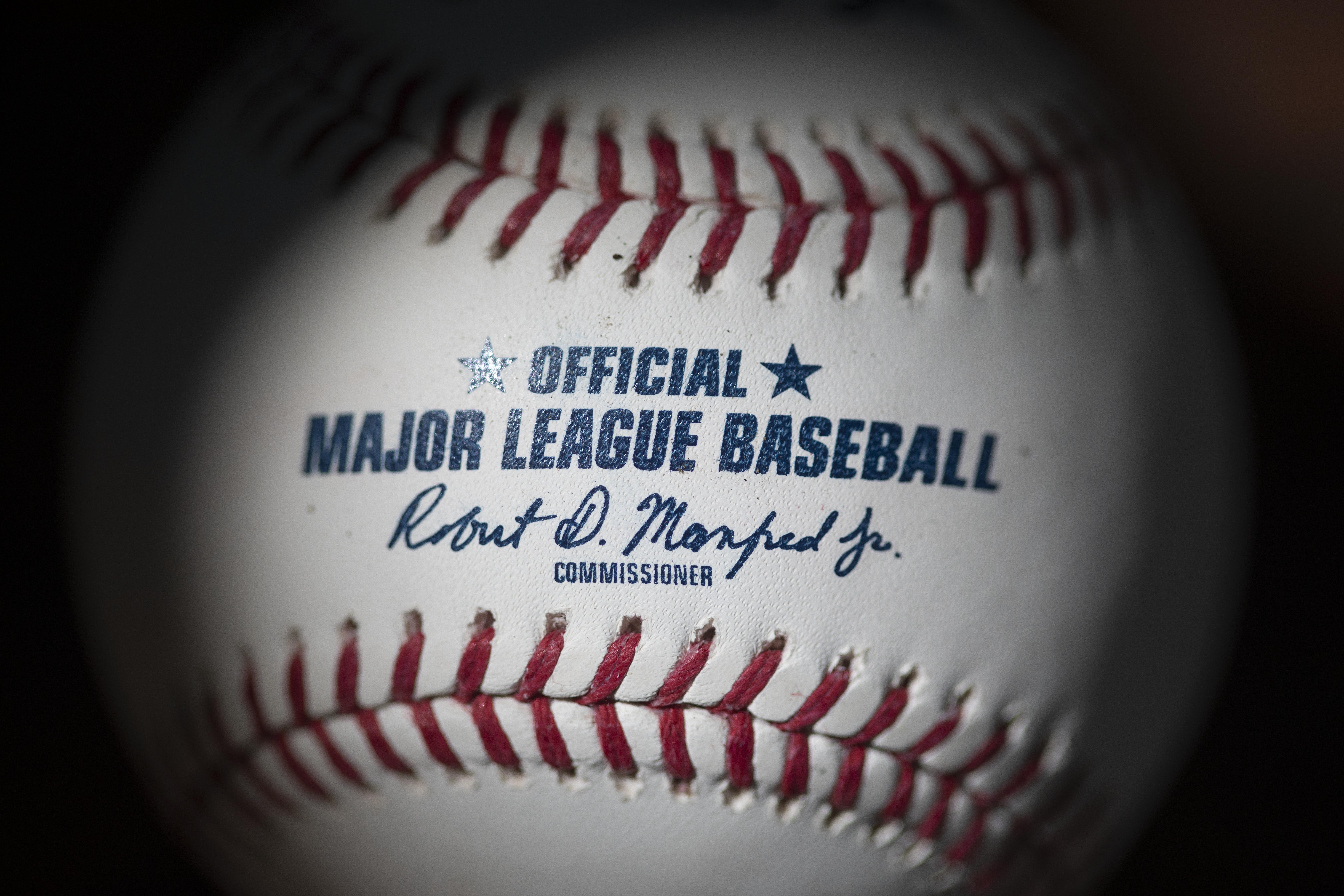 An official Rawlings Major League Baseball for the 2020 Major League Baseball season.