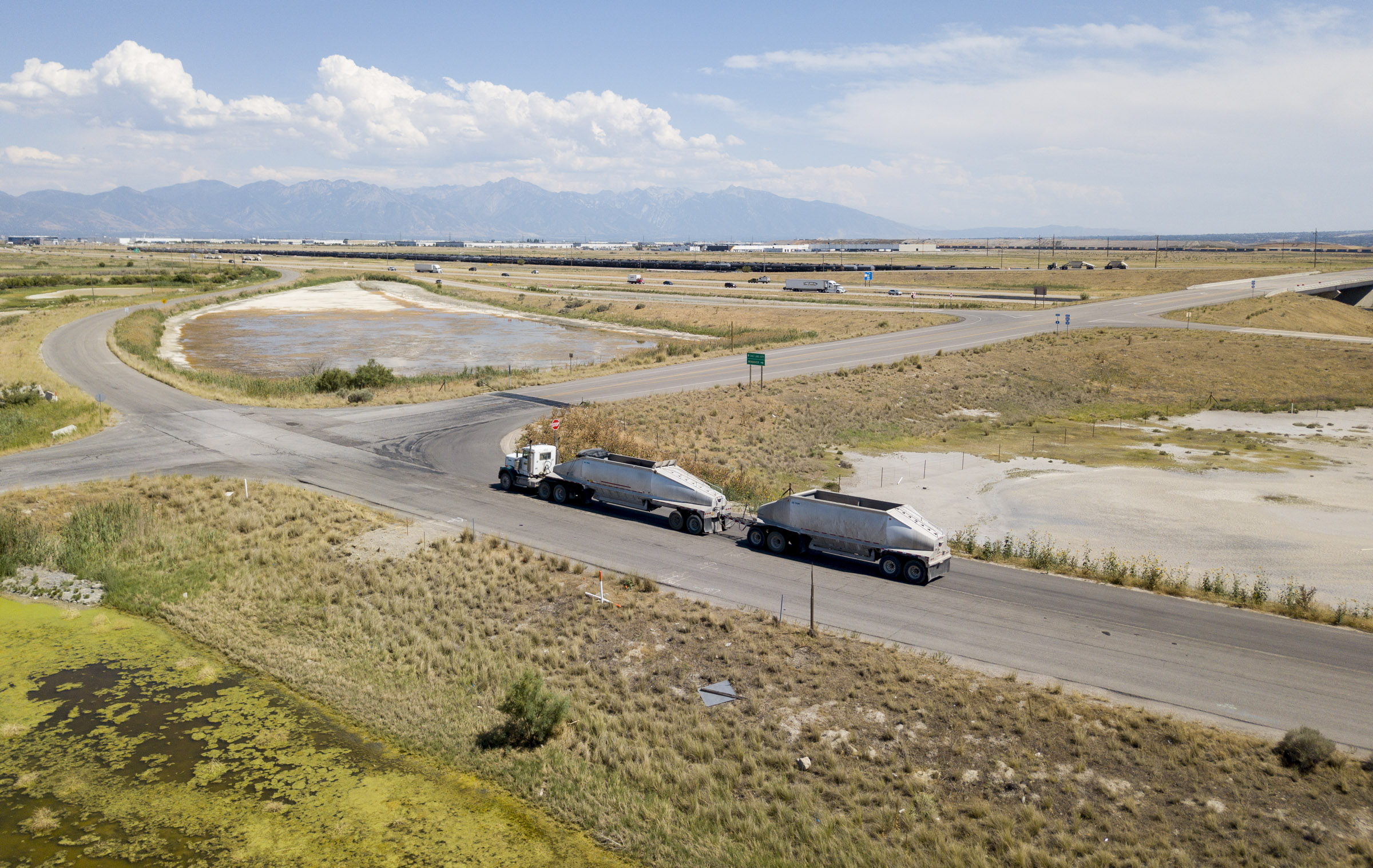 A section of land looking southeast at 7200 West and I-80 that is part of the proposed Utah Inland Port in Salt Lake City is pictured on Monday, July 16, 2018. Gov. Gary Herbert joined legislative and local elected leaders to discuss consensus recommendations for the Utah Inland Port during press conference at the Capitol in Salt Lake City on Monday, July 16, 2018.