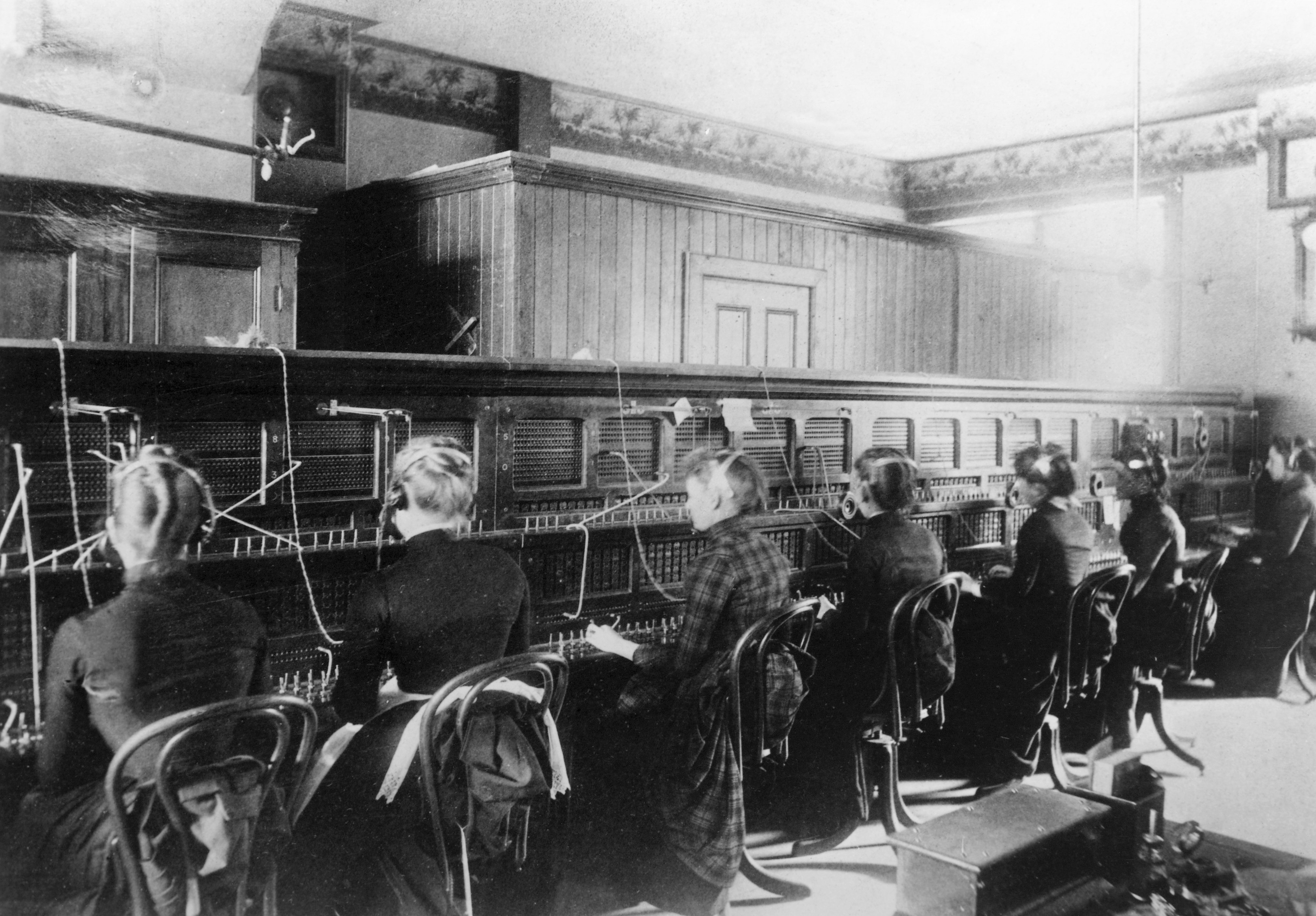 Telephone Operators at Switchboards