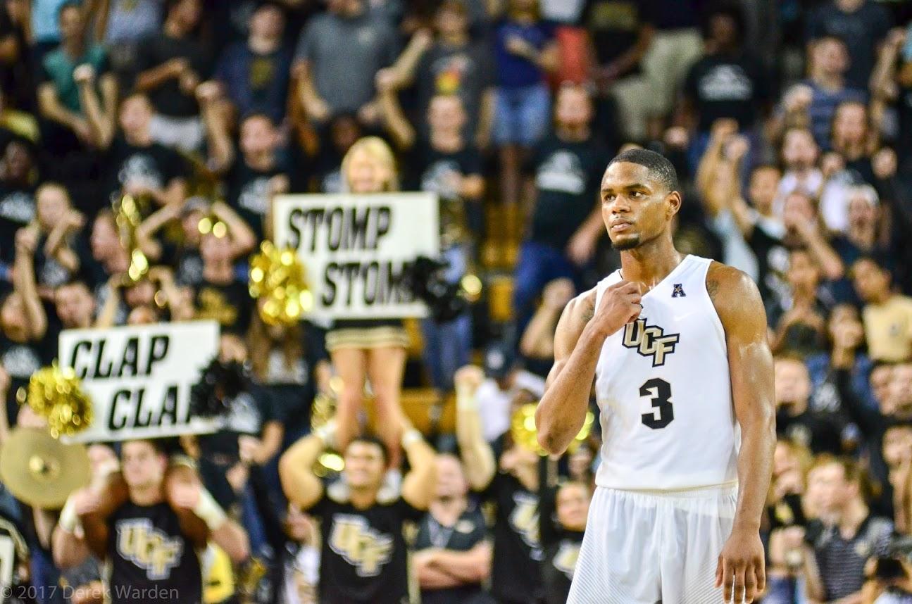Senior forward AJ Davis currently leads the AAC with 8.8 rebounds per game. (Photo: Derek Warden)