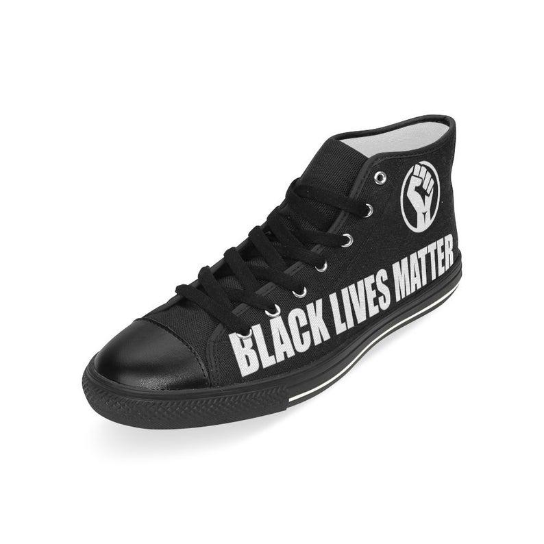 Black Lives Matter hi top sneakers