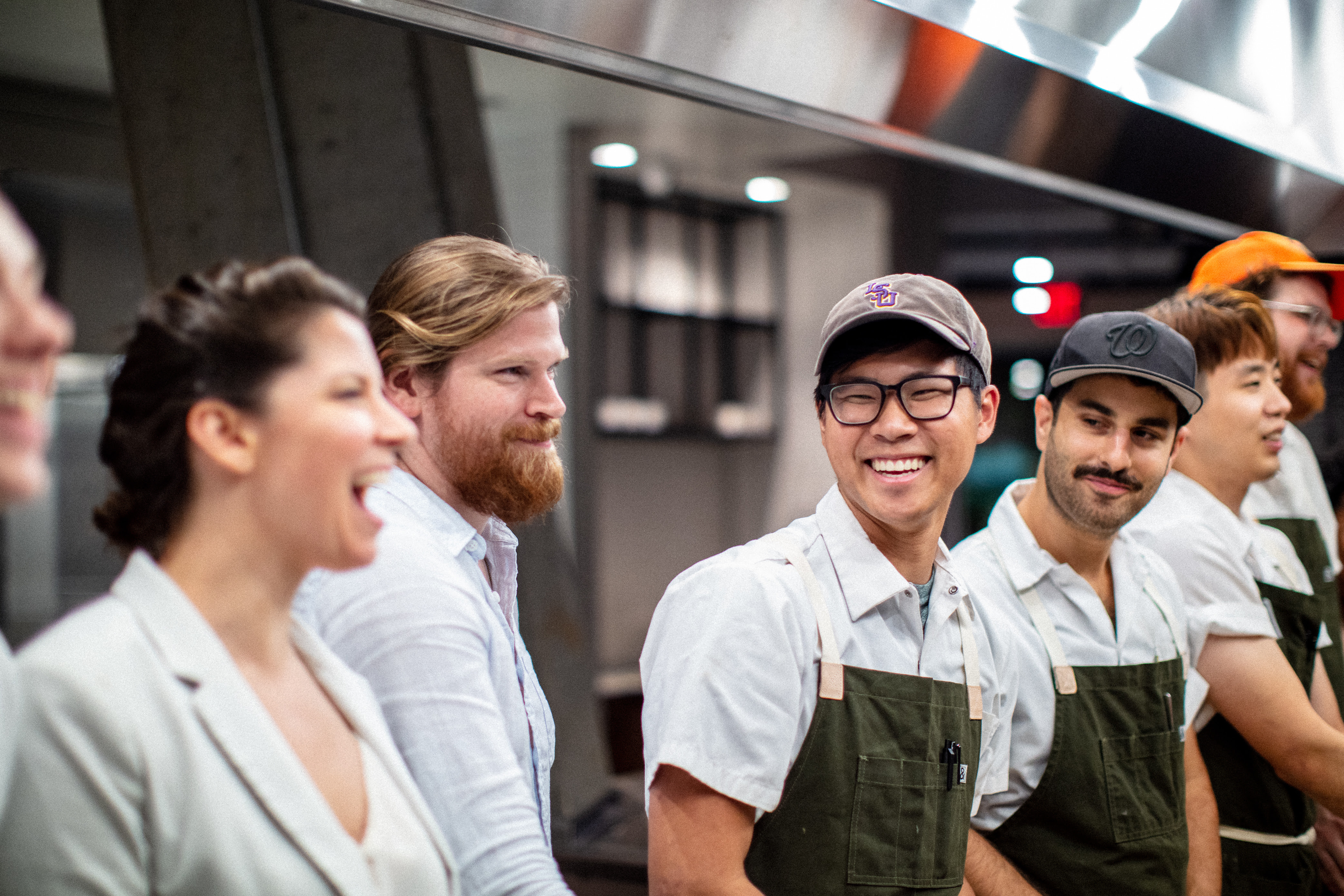 Kevin Tien, third from left, with his team at Emilie's