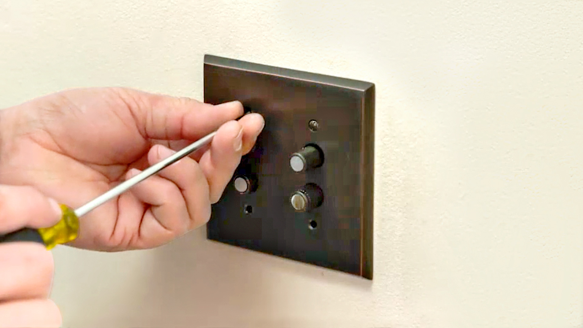 installing a push-button light switch