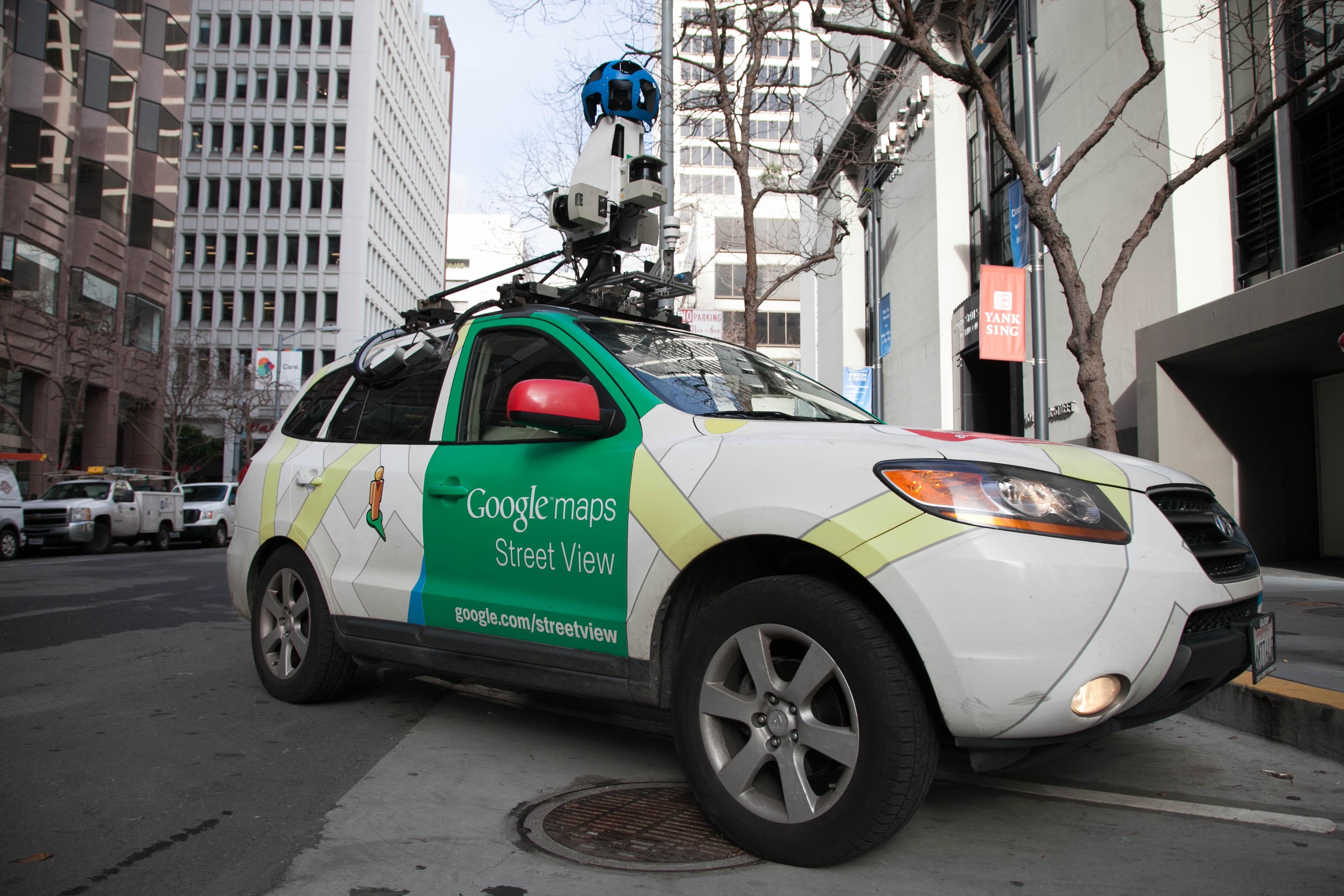 Google Street View car with an Aclima air pollution sensor